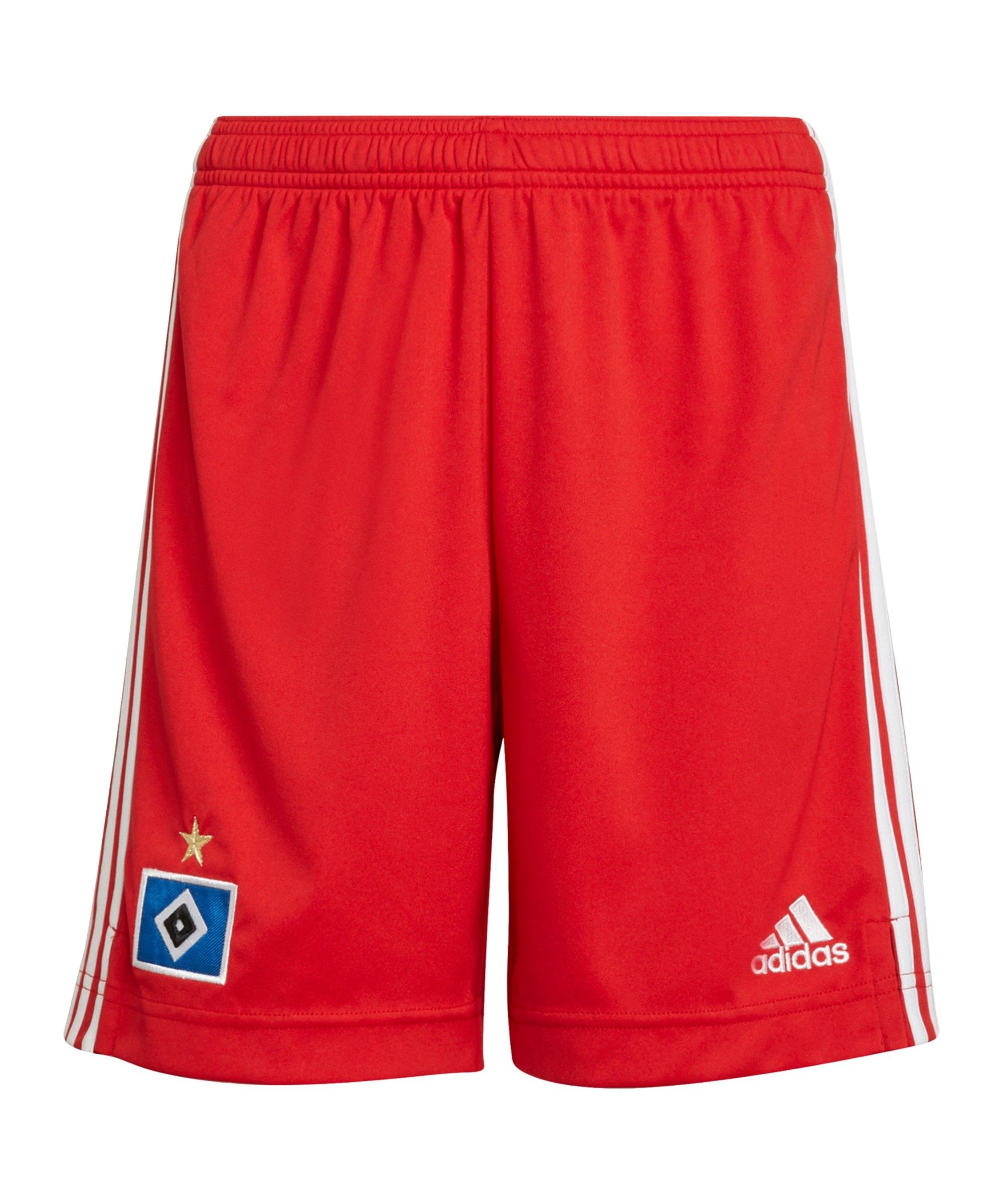 adidas Hamburger SV Short Home 2021/2022 Kids Rot - rot