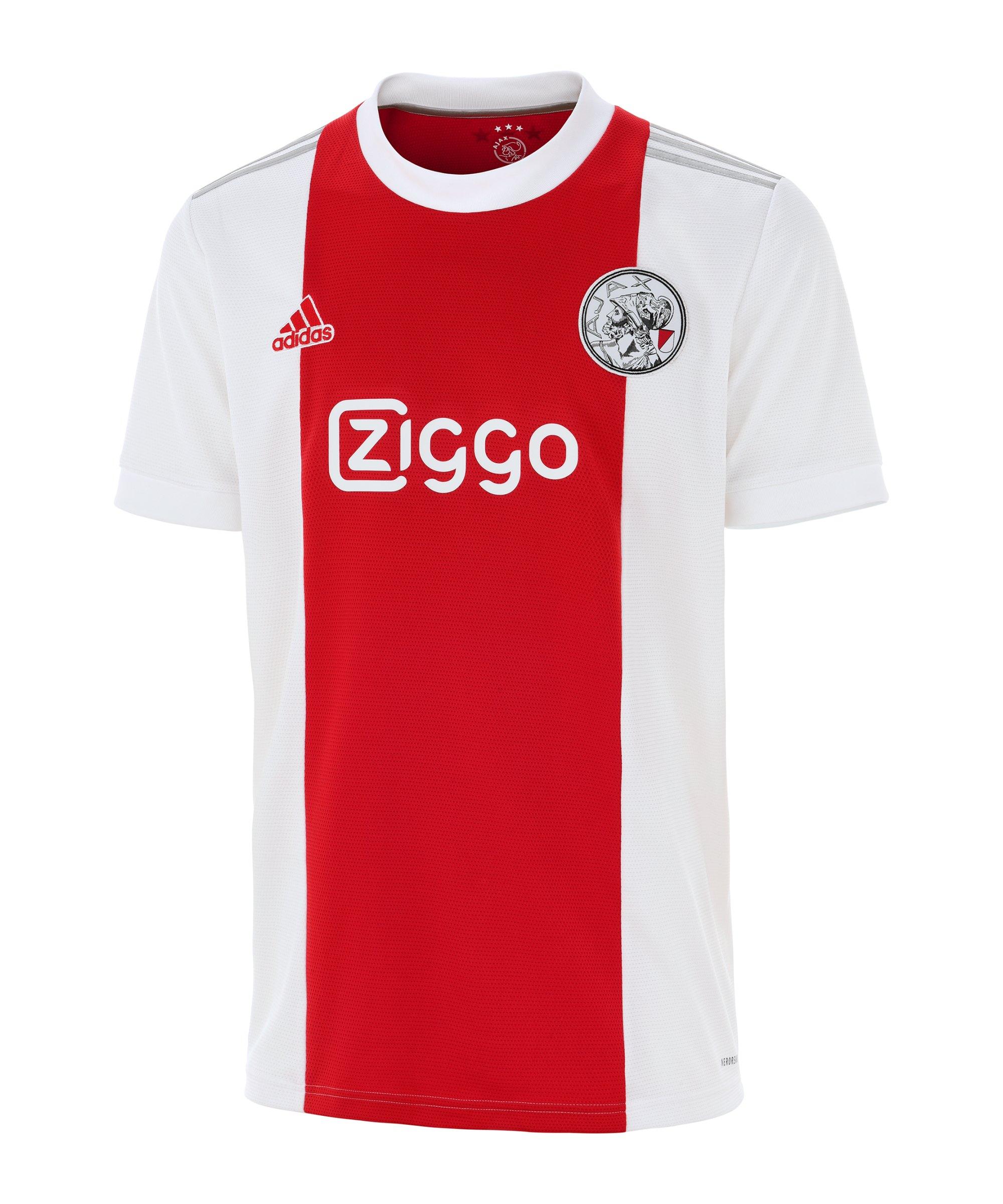 adidas Ajax Amsterdam Trikot Home 2021/2022 Kids Weiss - weiss
