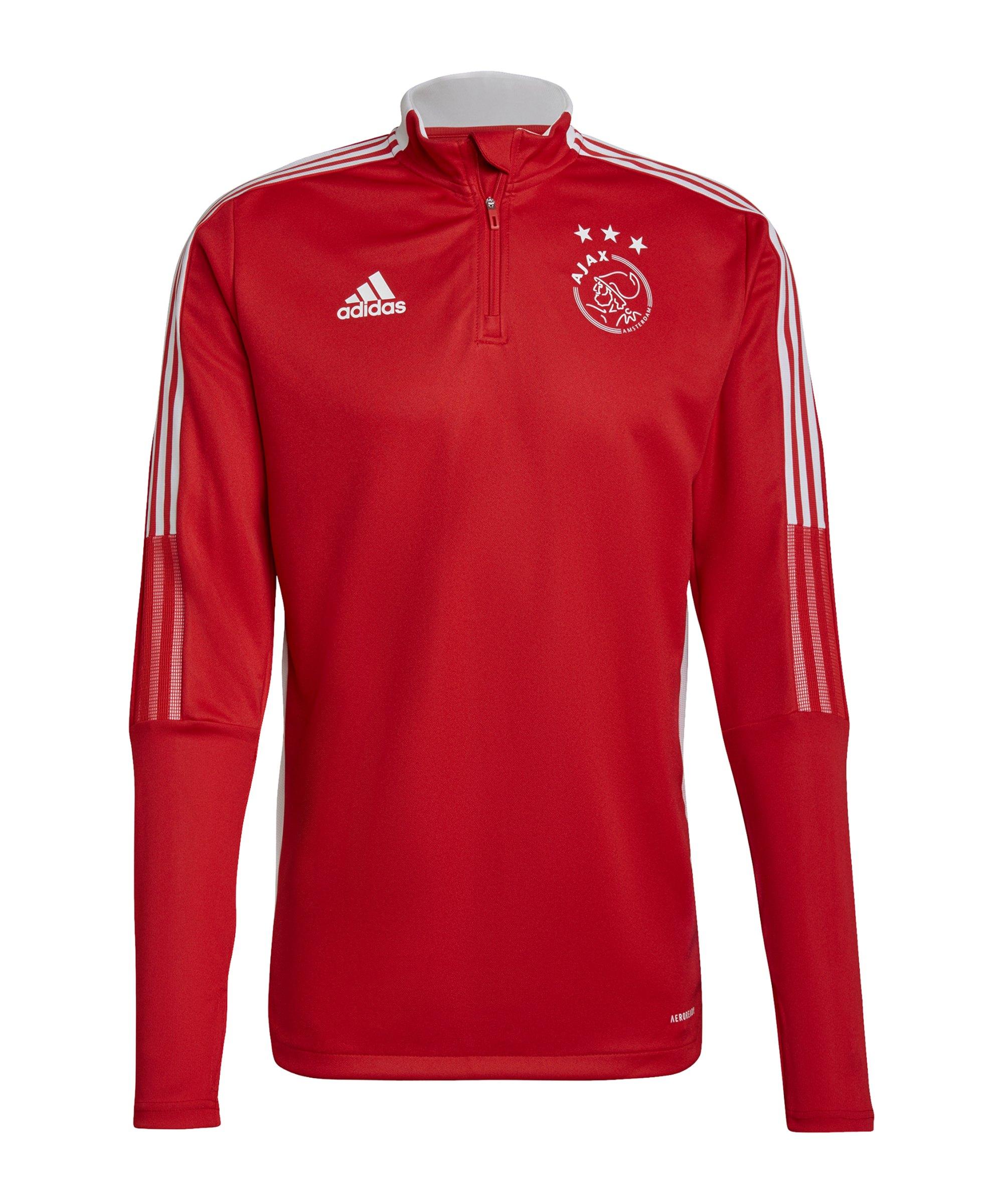 adidas Ajax Amsterdam HalfZip Sweatshirt Rot - rot