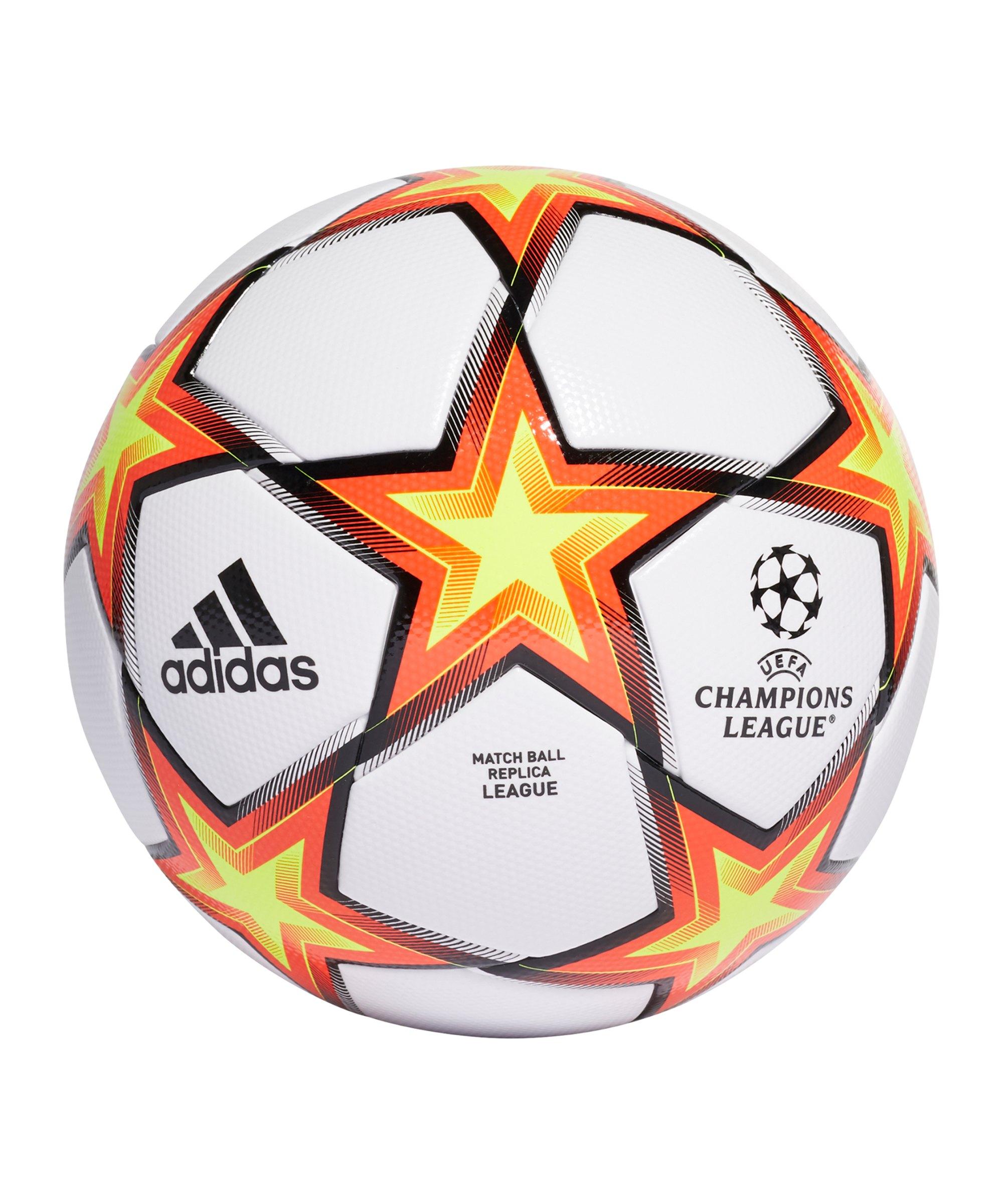 adidas UCL Finale 21 LGE Spielball Weiss Orange - orange