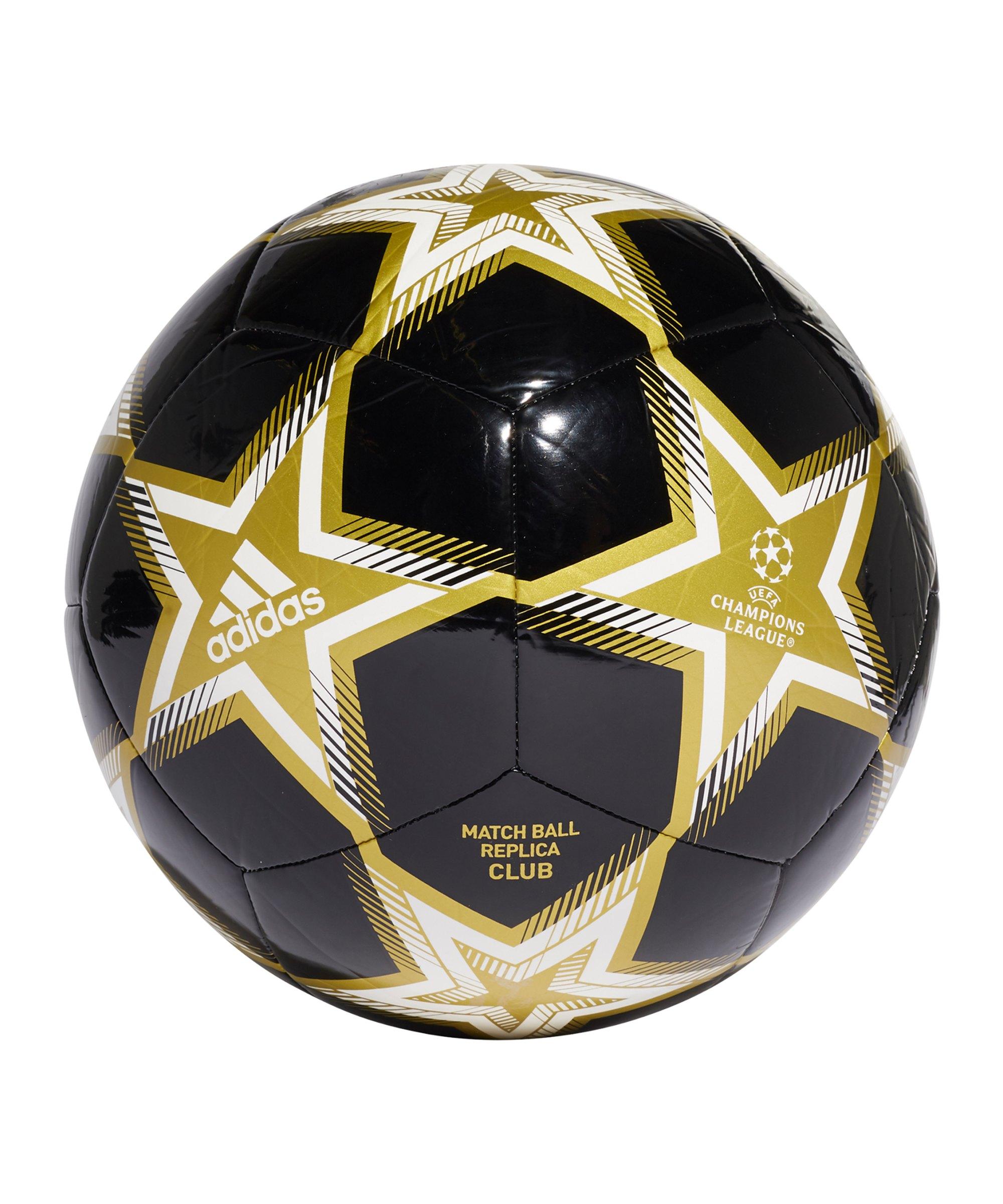 adidas UCL Finale 21 CLB Spielball Schwarz - schwarz