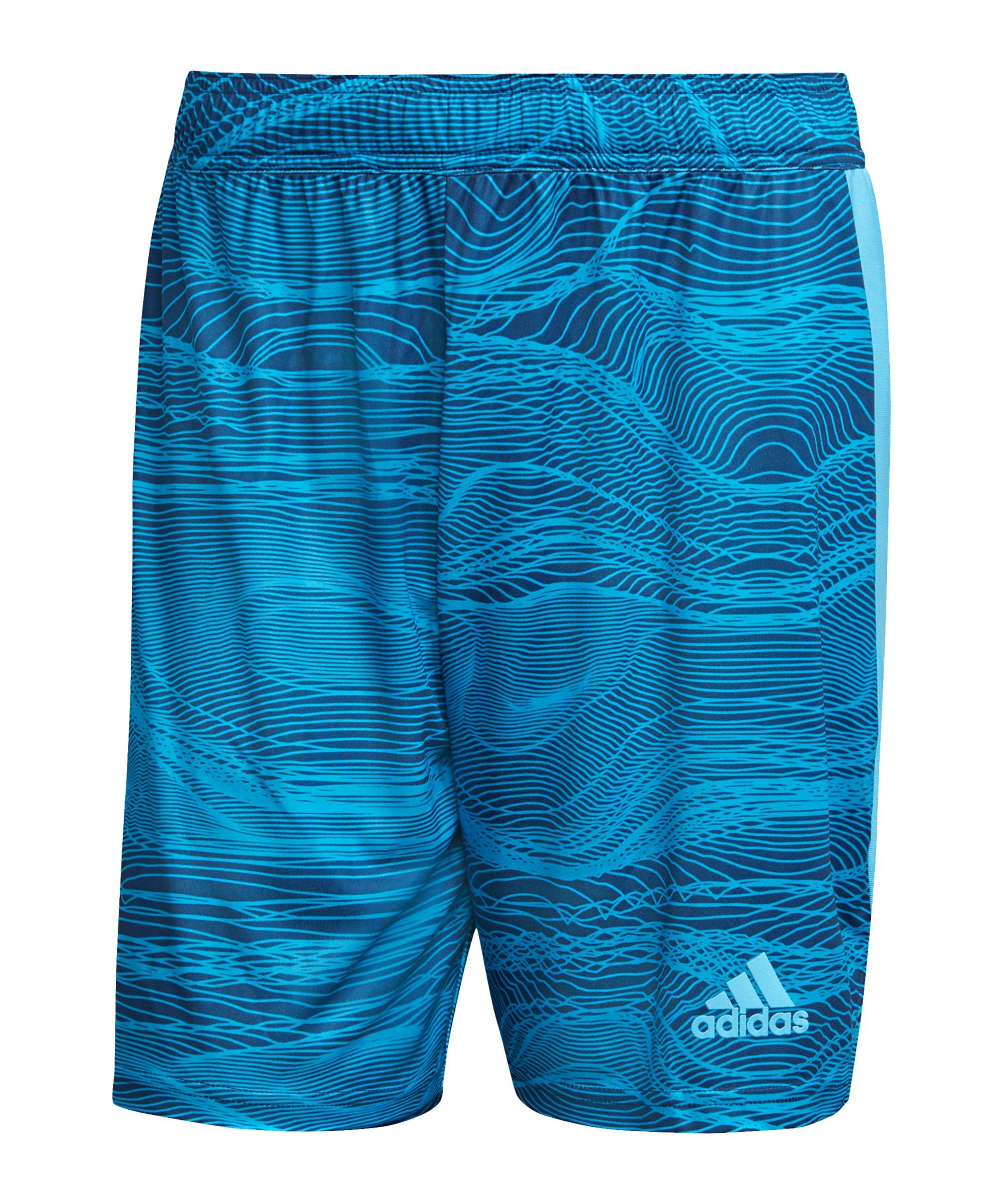 adidas Condivo 21 Torwartshort Blau - blau