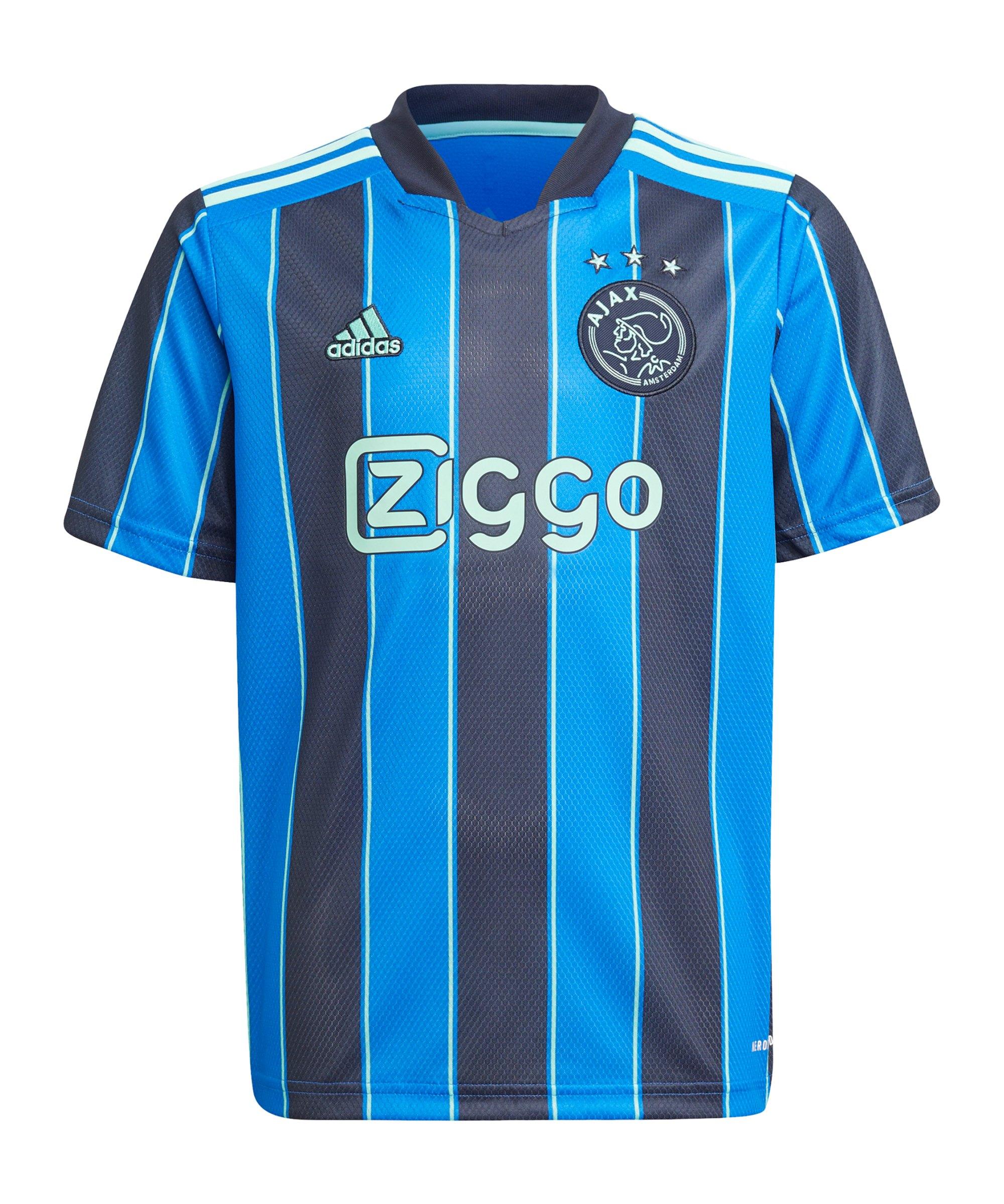 adidas Ajax Amsterdam Trikot Away 2021/2022 Kids Blau - blau