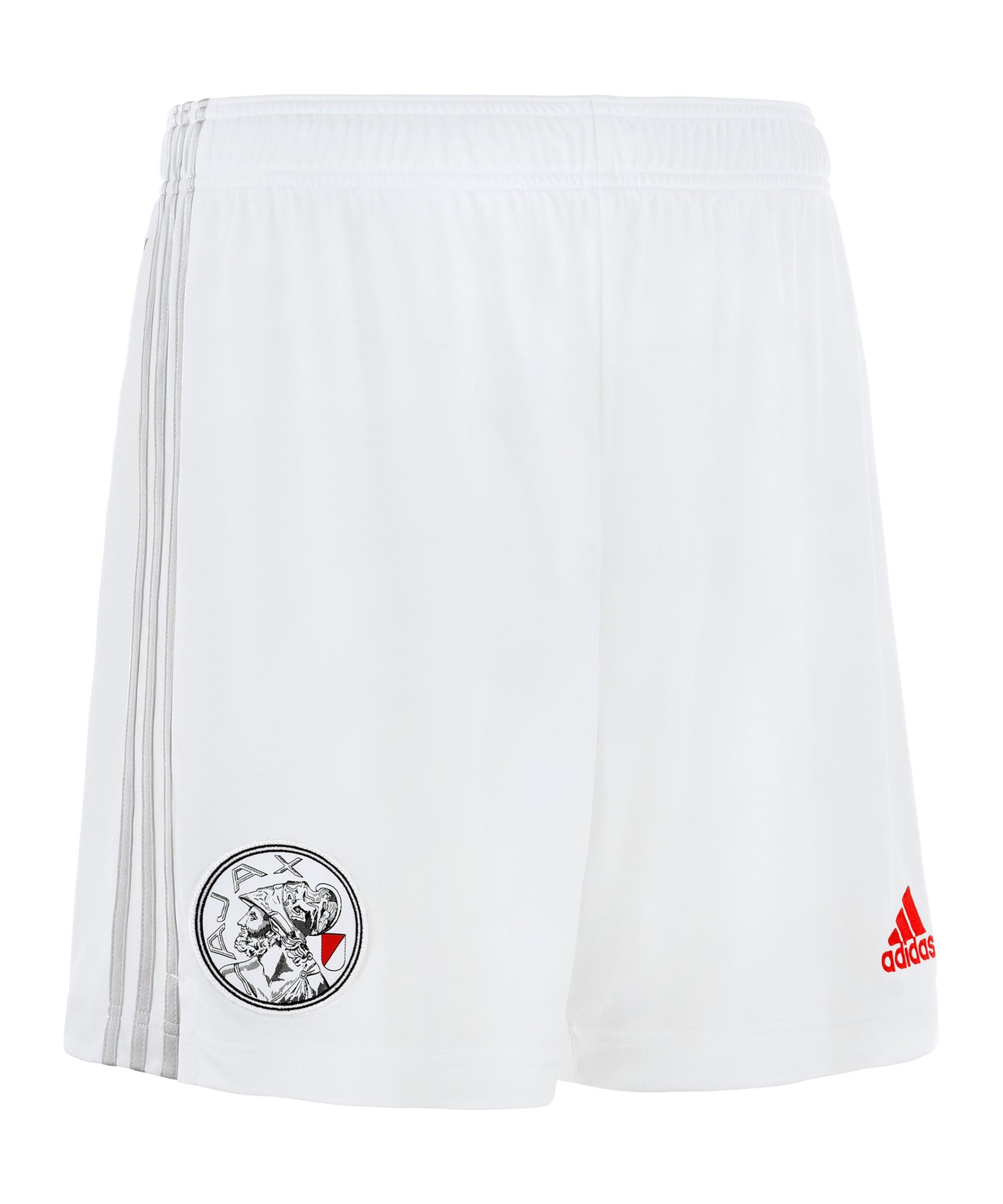 adidas Ajax Amsterdam Short Home 2021/2022 Weiss - weiss
