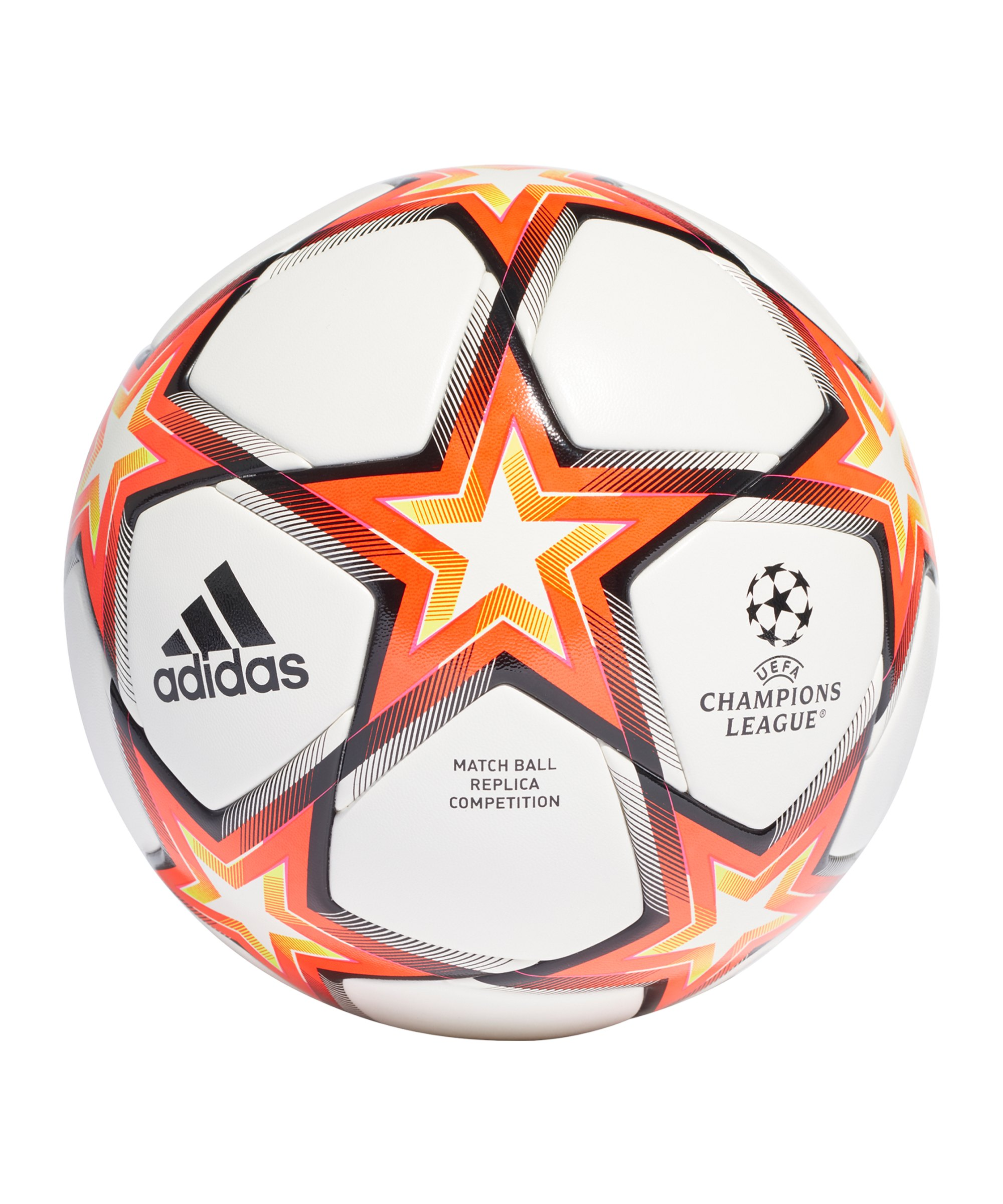 adidas UCL Finale 21 Spielball Competition Weiss Rot - rot