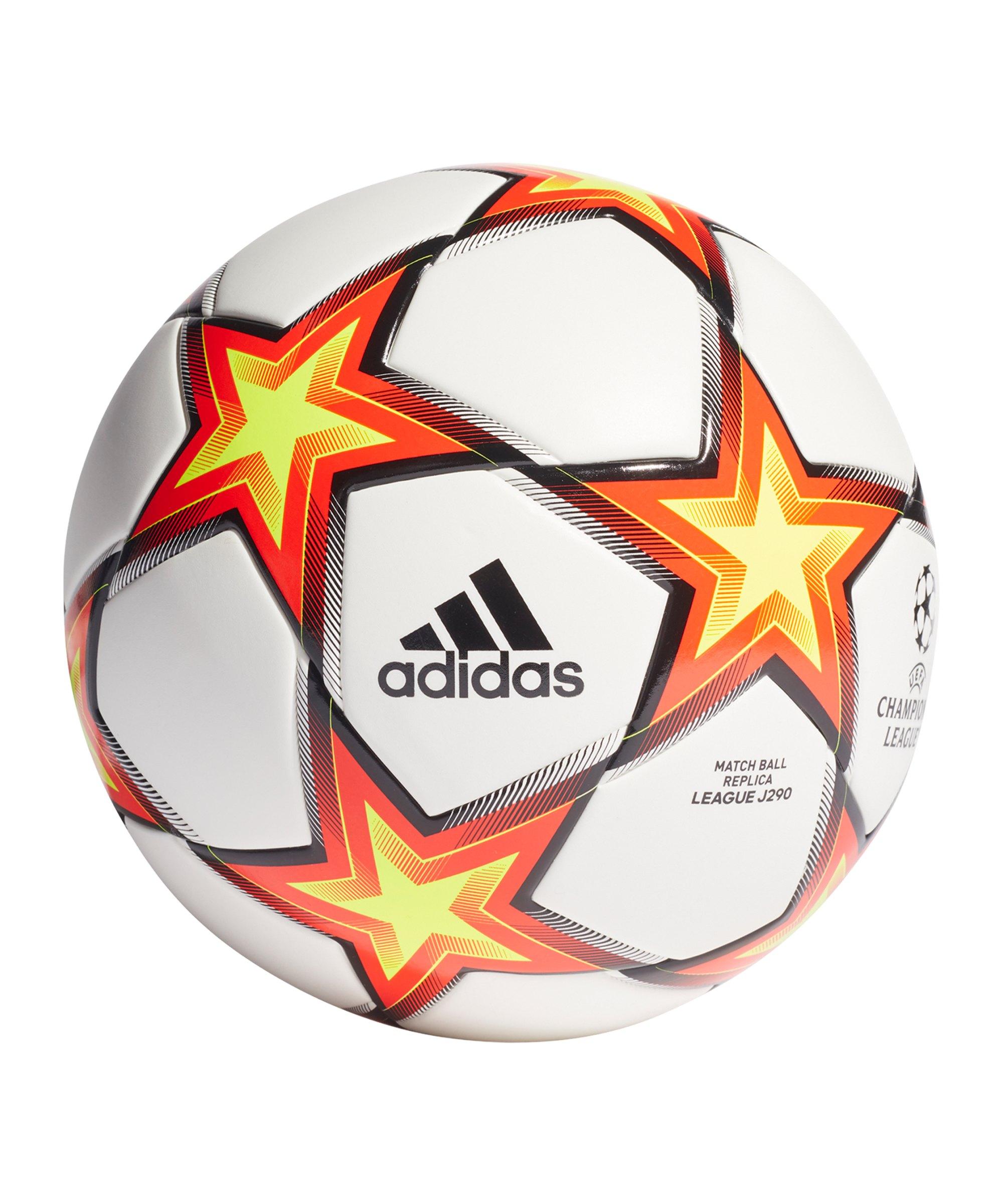 adidas UCL Finale 21 LGE Lightball 290 Gramm Weiss - weiss
