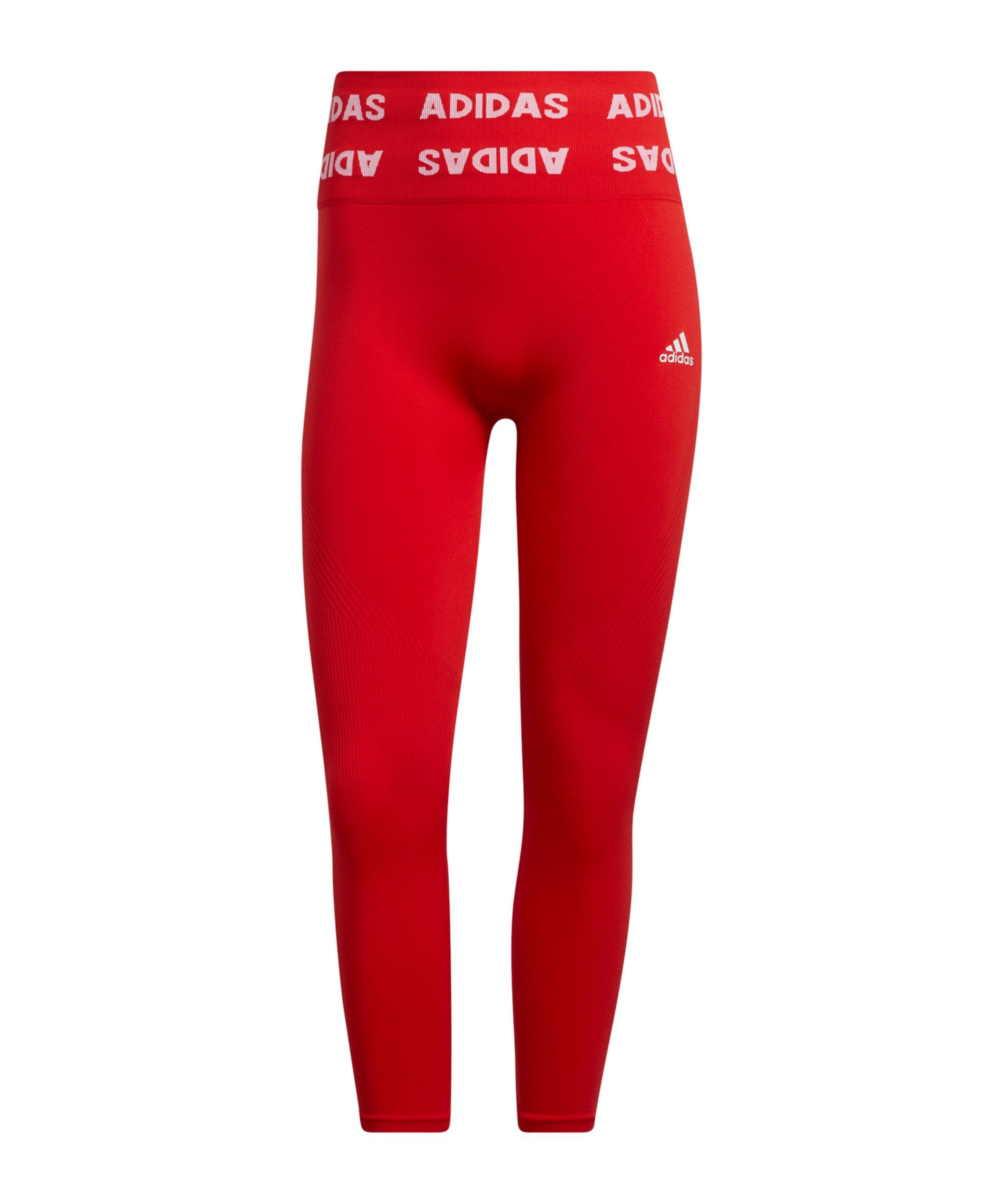 adidas Aeroknit 78 Leggings Training Damen Rot - rot