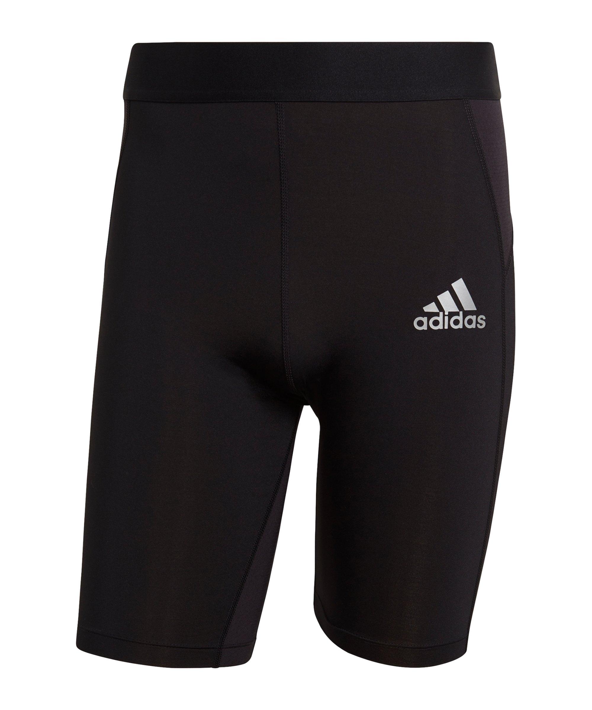 adidas Techfit Short Schwarz - schwarz