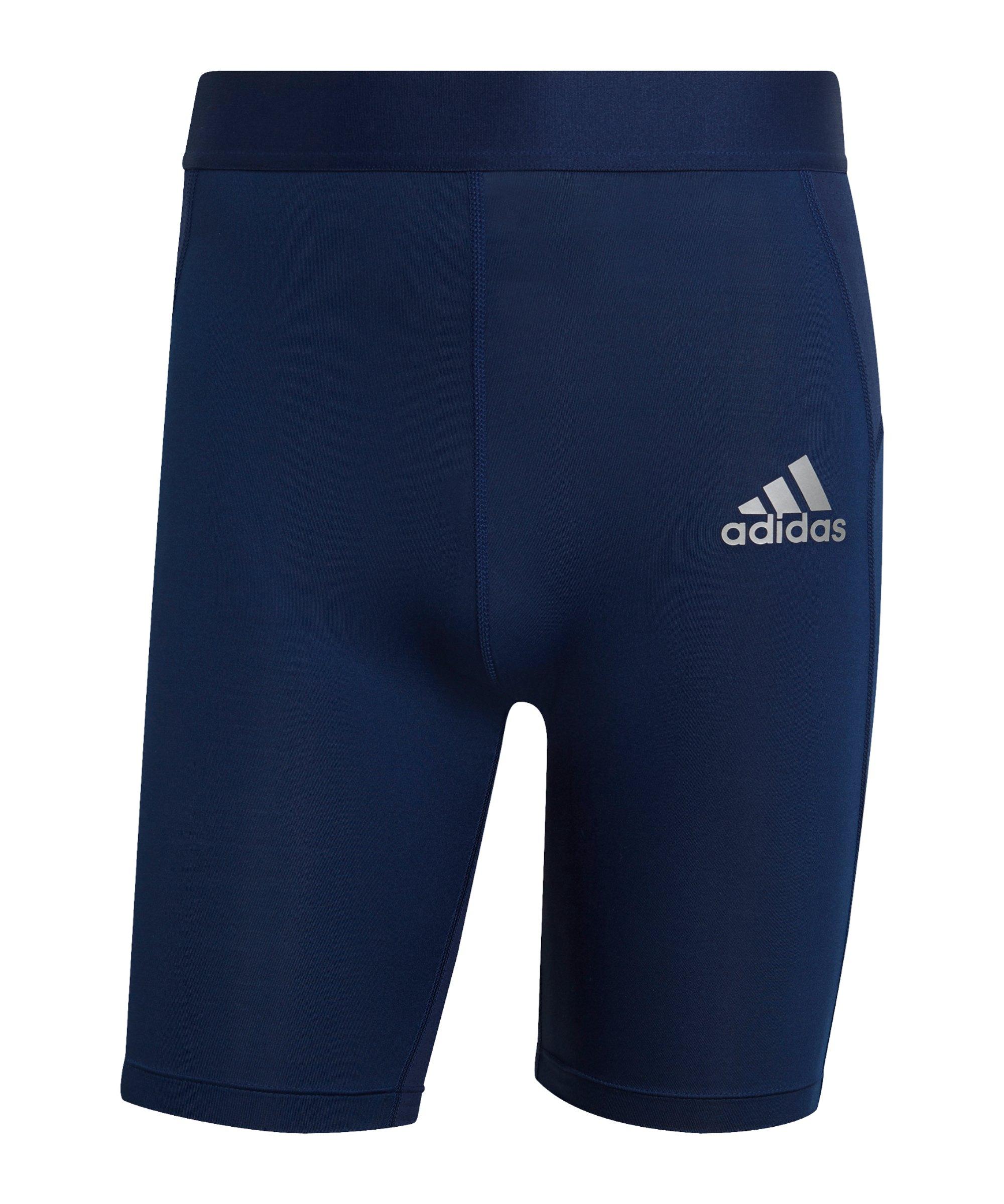 adidas Techfit Short Dunkelblau - blau