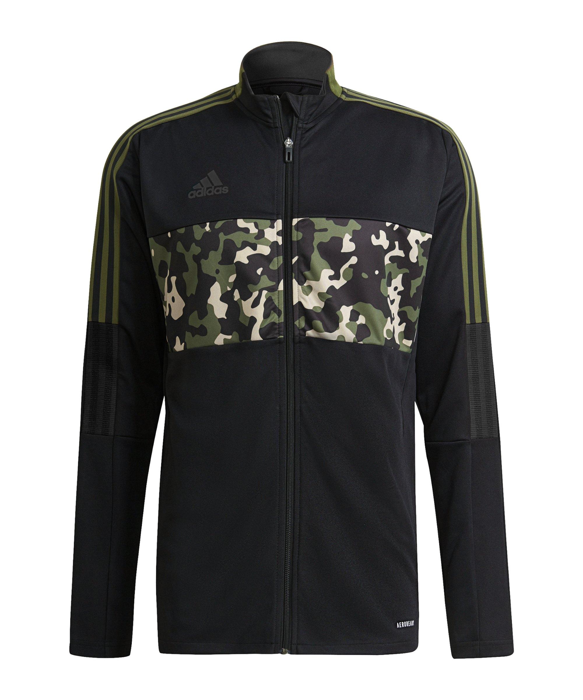 adidas Tiro AOP Trainingsjacke Schwarz - schwarz