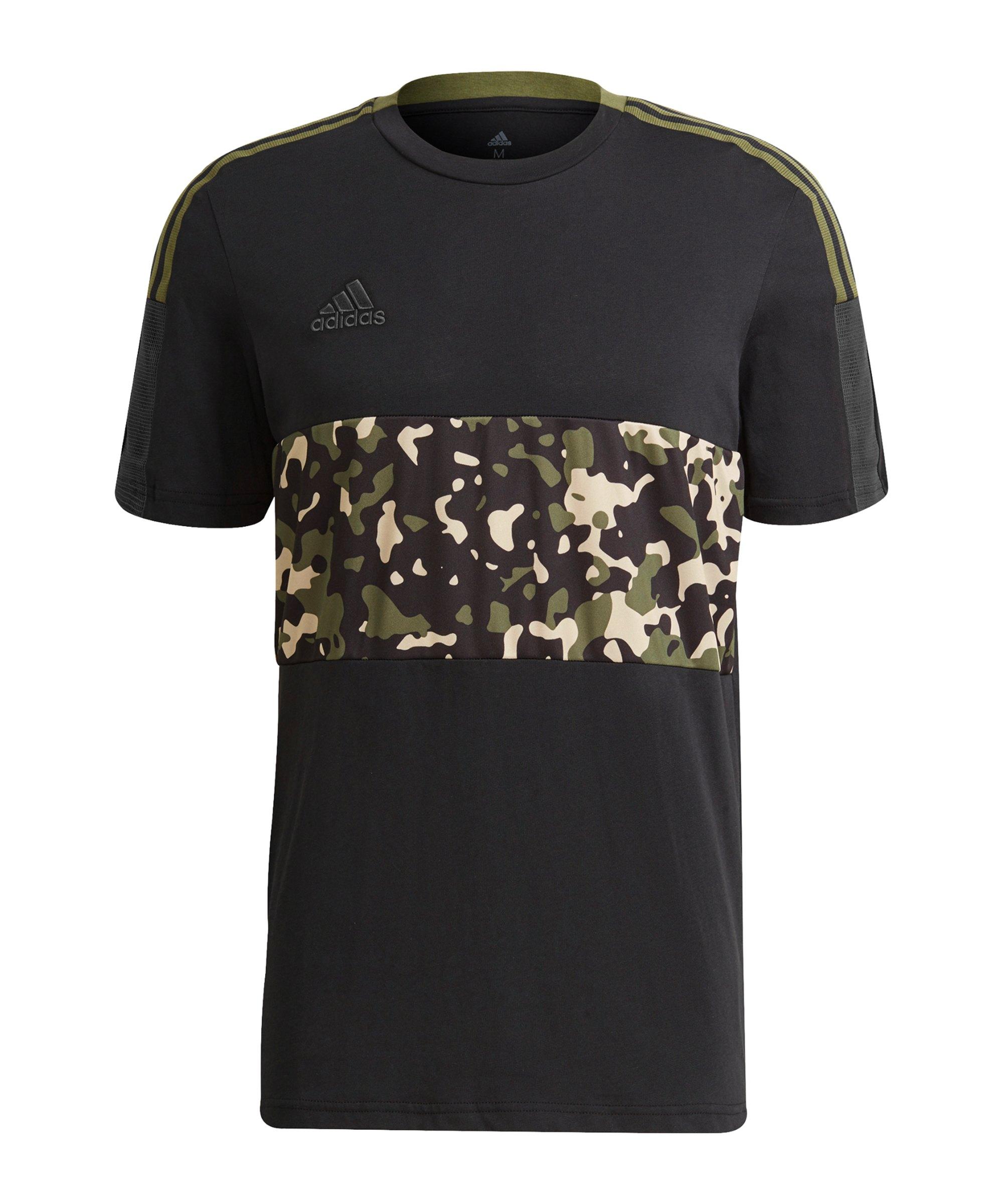 adidas Tiro AOP T-Shirt Schwarz - schwarz