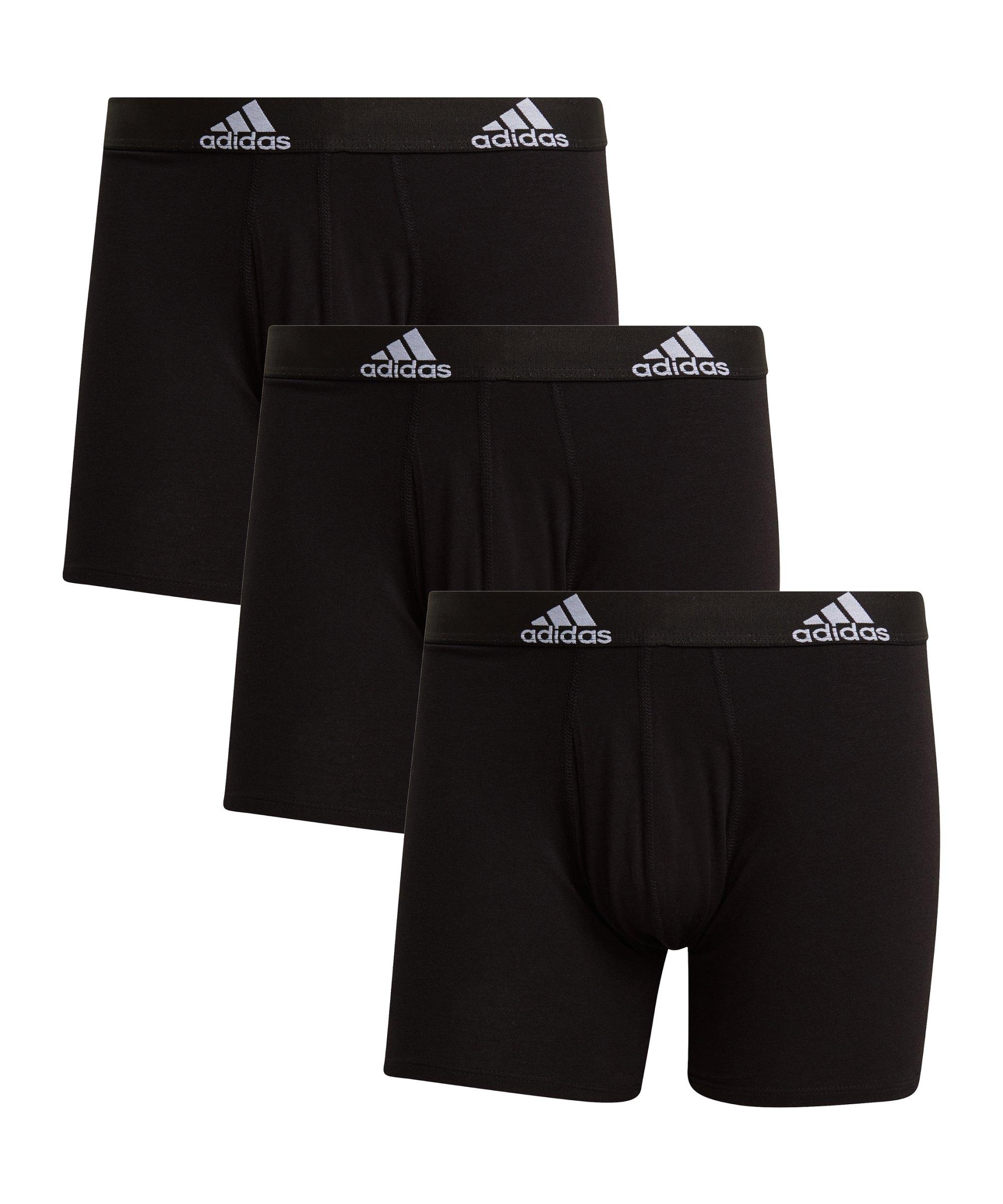 adidas BOS Brief 3er Pack Schwarz - schwarz