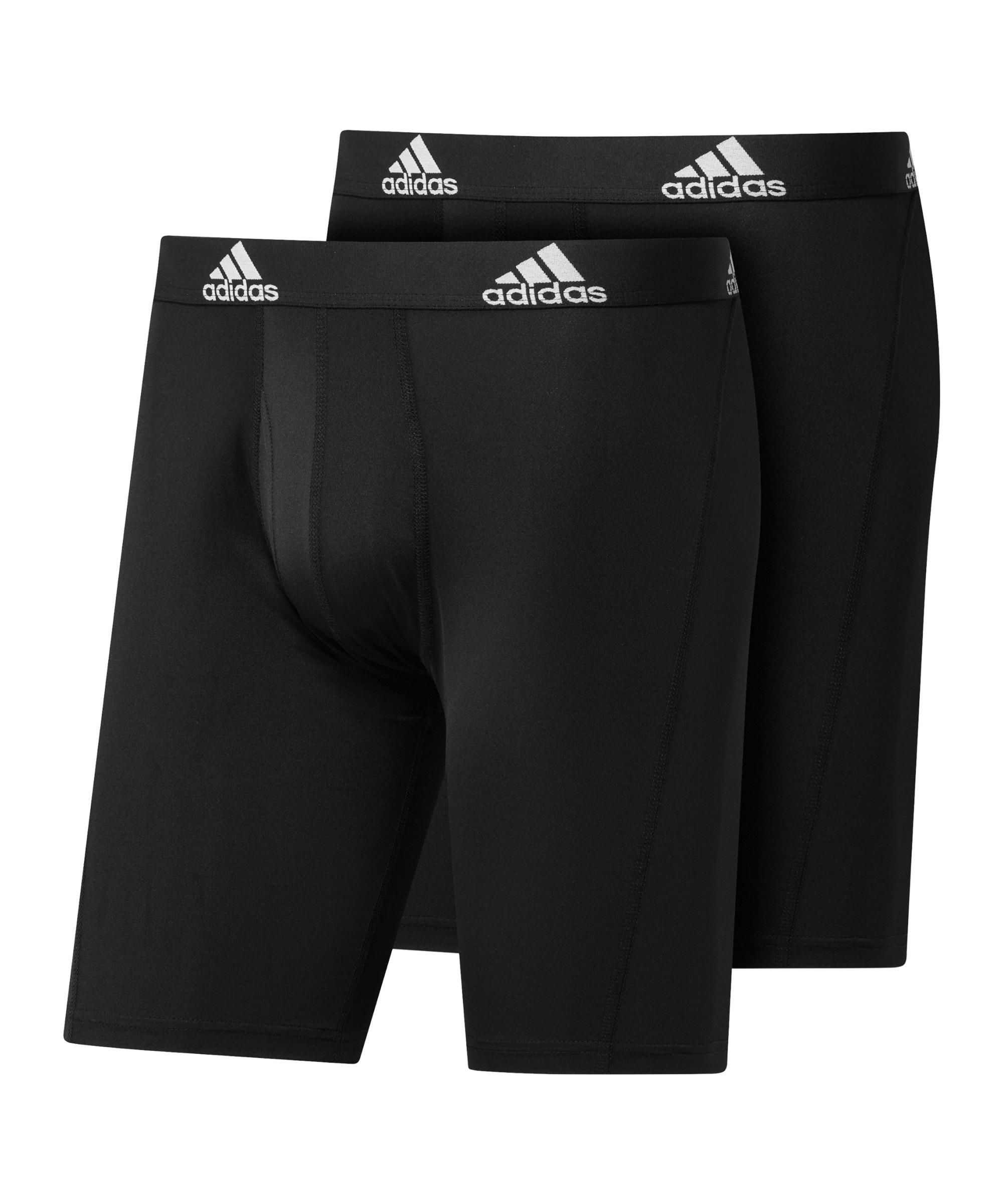 adidas BOS Brief 2er Pack Boxershort Schwarz - schwarz