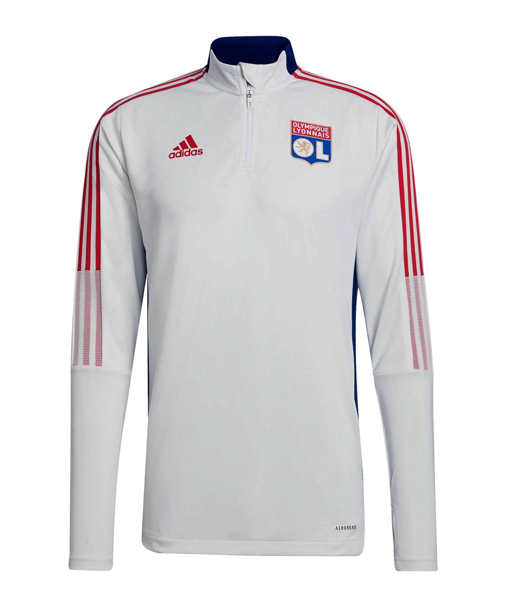 adidas Olimpique Lyon HalfZip Sweatshirt Weiss - weiss