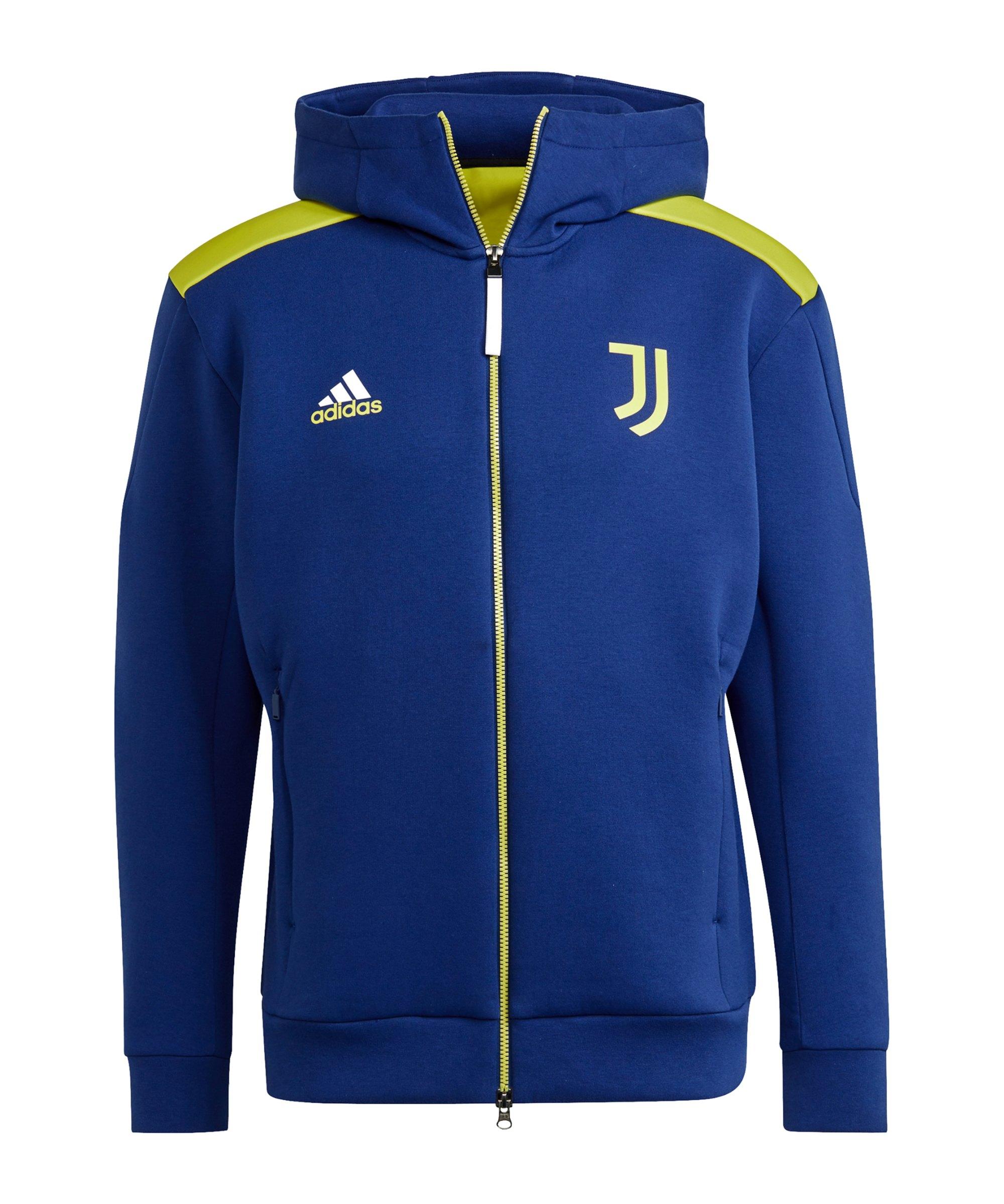 adidas Juventus Turin Z.N.E. Jacke Blau Gelb - blau