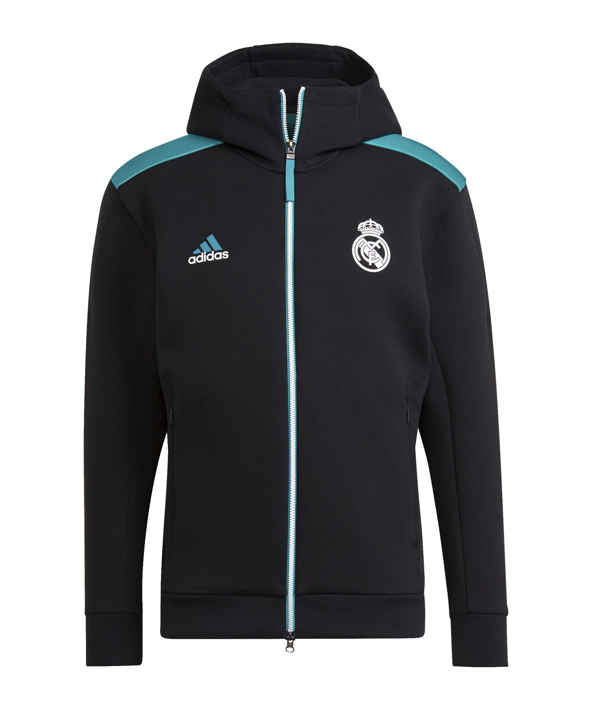 adidas Real Madrid Z.N.E. Jacke Schwarz - schwarz