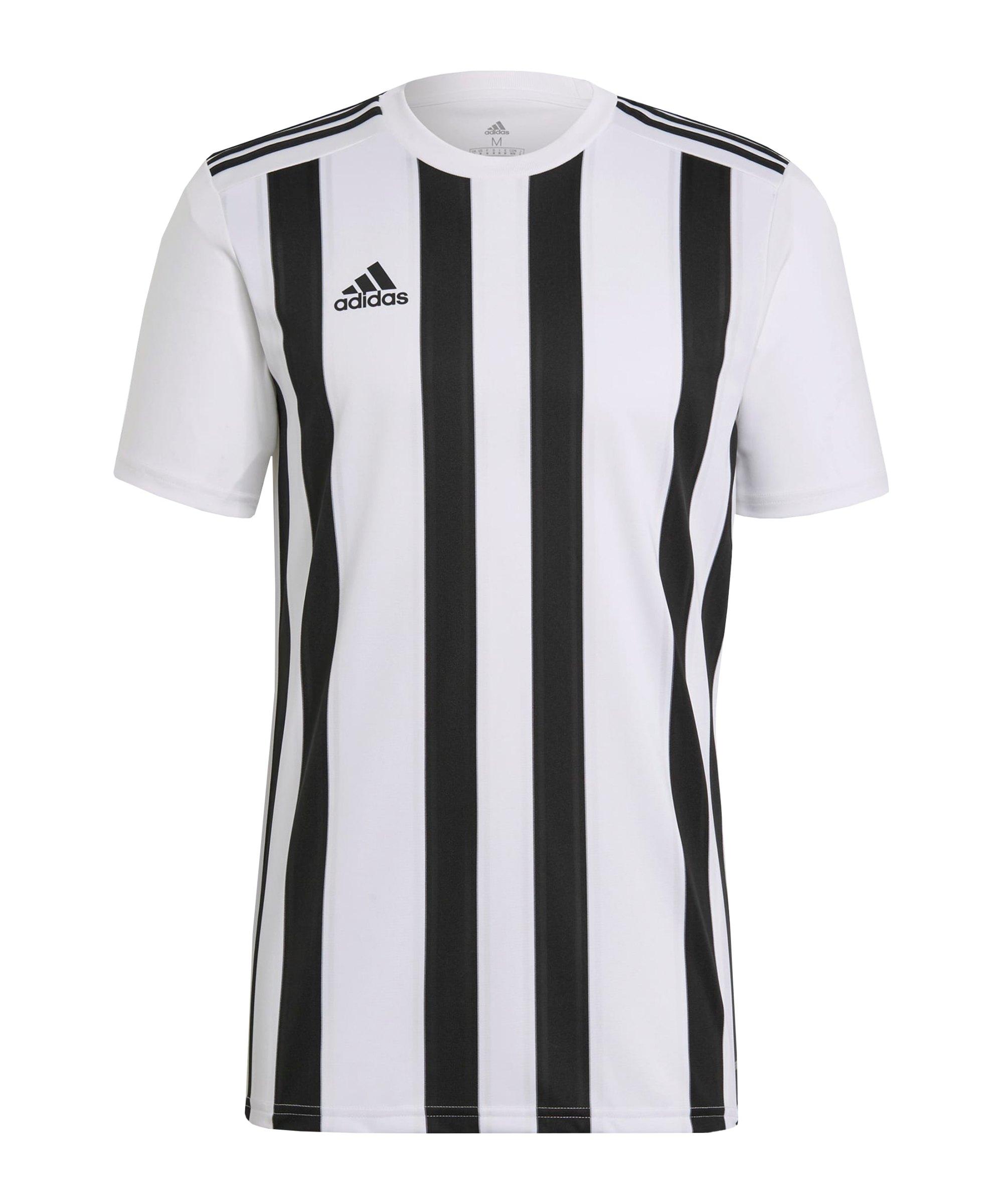 adidas Striped 21 Trikot kurzarm Weiss Schwarz - weiss
