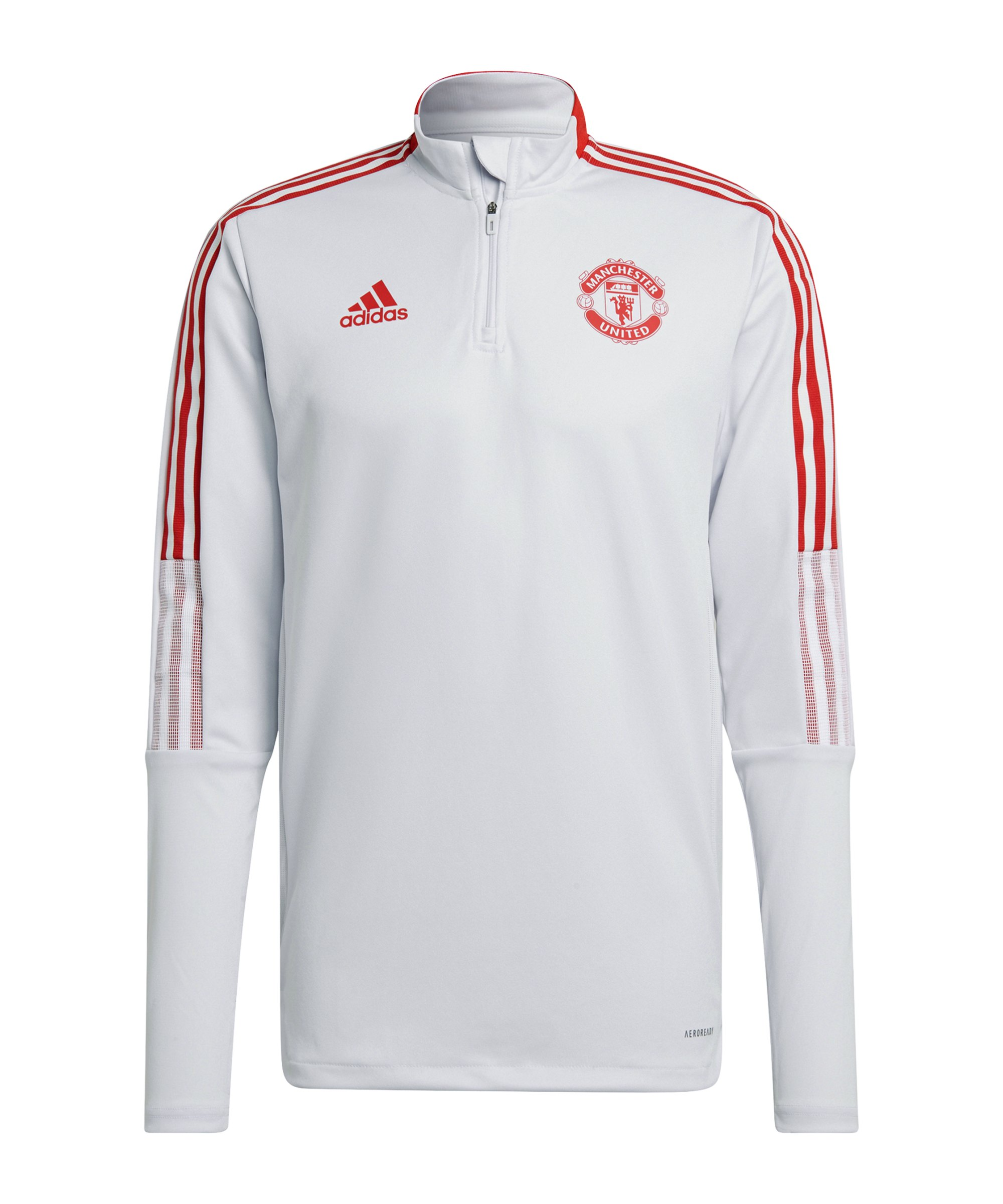 adidas Manchester United HalfZip Sweatshirt Grau - grau