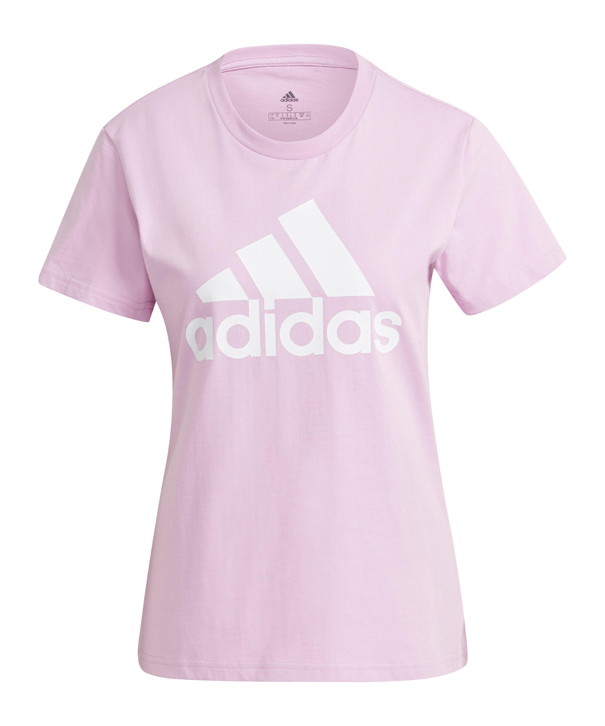 adidas Essentials Regular T-Shirt Damen Lila - lila