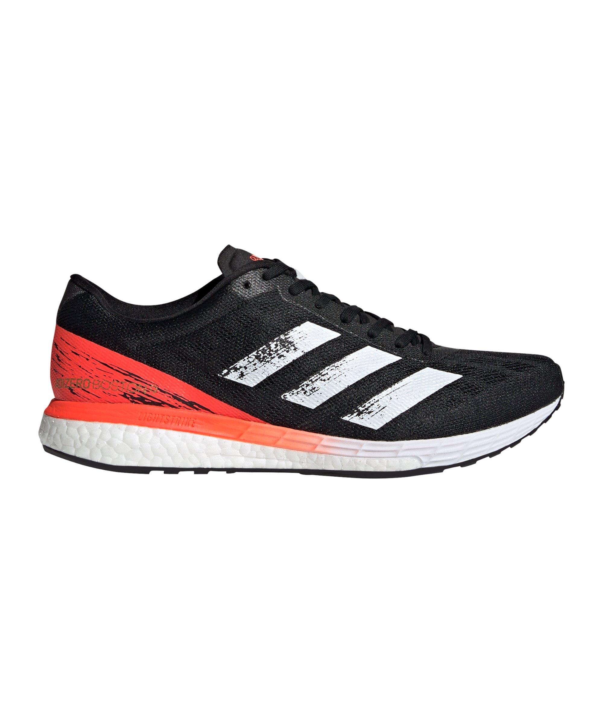adidas Adizero Boston 9 Running Schwarz Weiss - schwarz