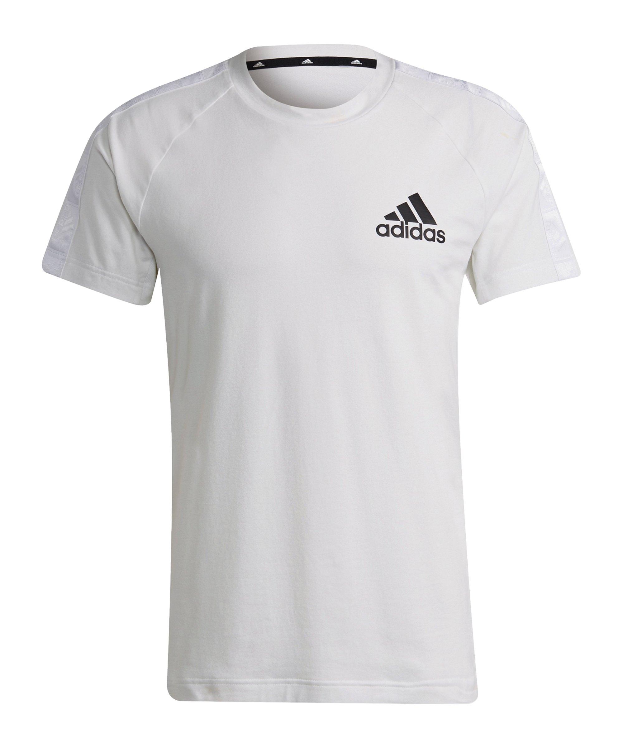 adidas D2M Motion T-Shirt Weiss Schwarz - weiss