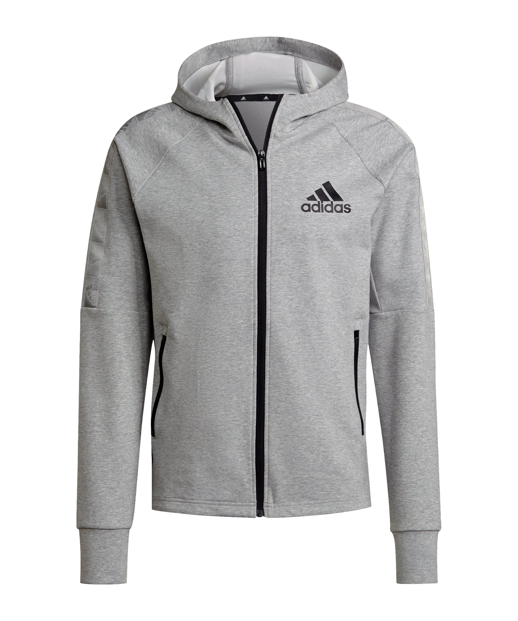 adidas D2M Kapuzenjacke Grau Schwarz - grau