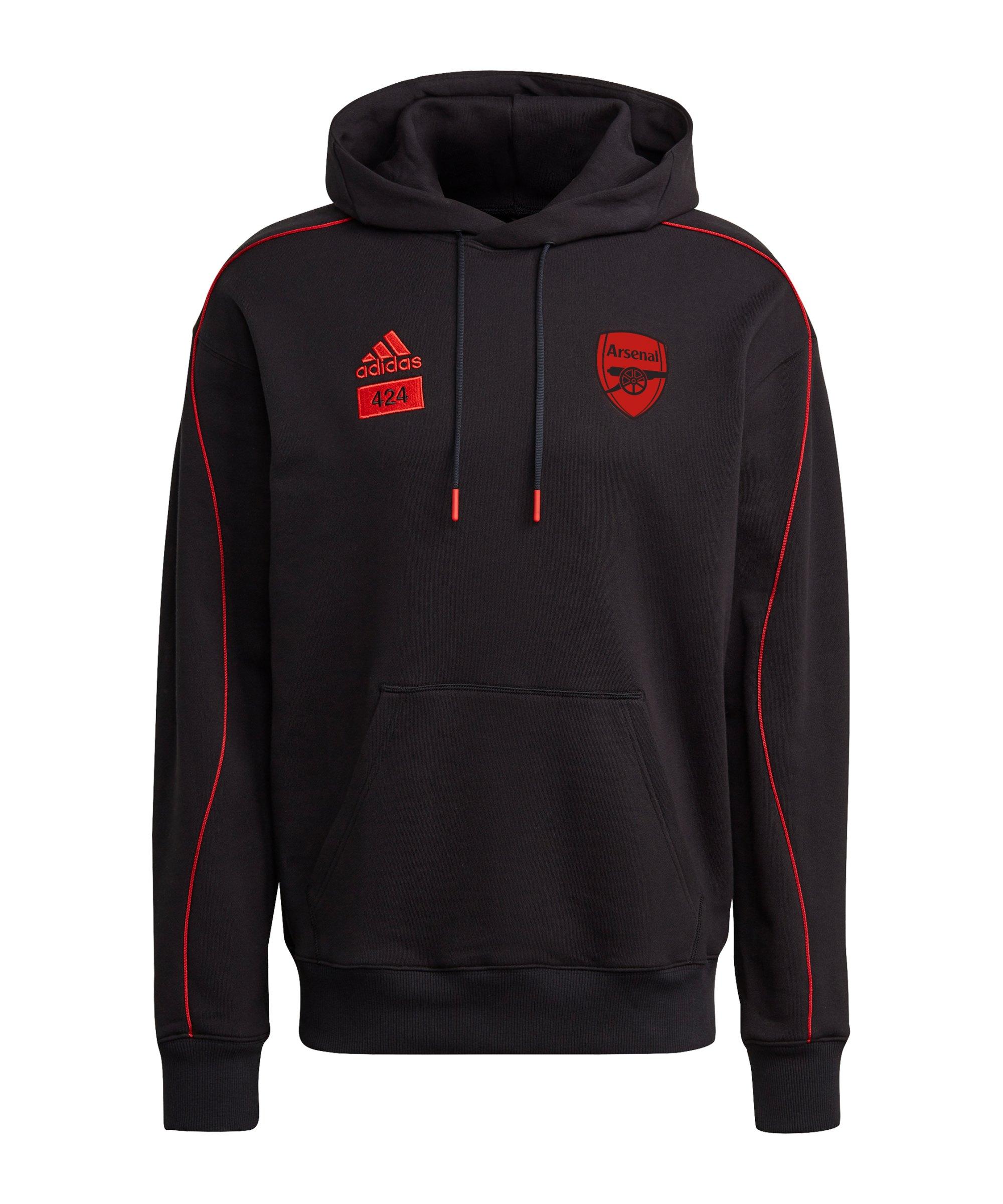 adidas FC Arsenal London x 424 Hoody Schwarz - schwarz