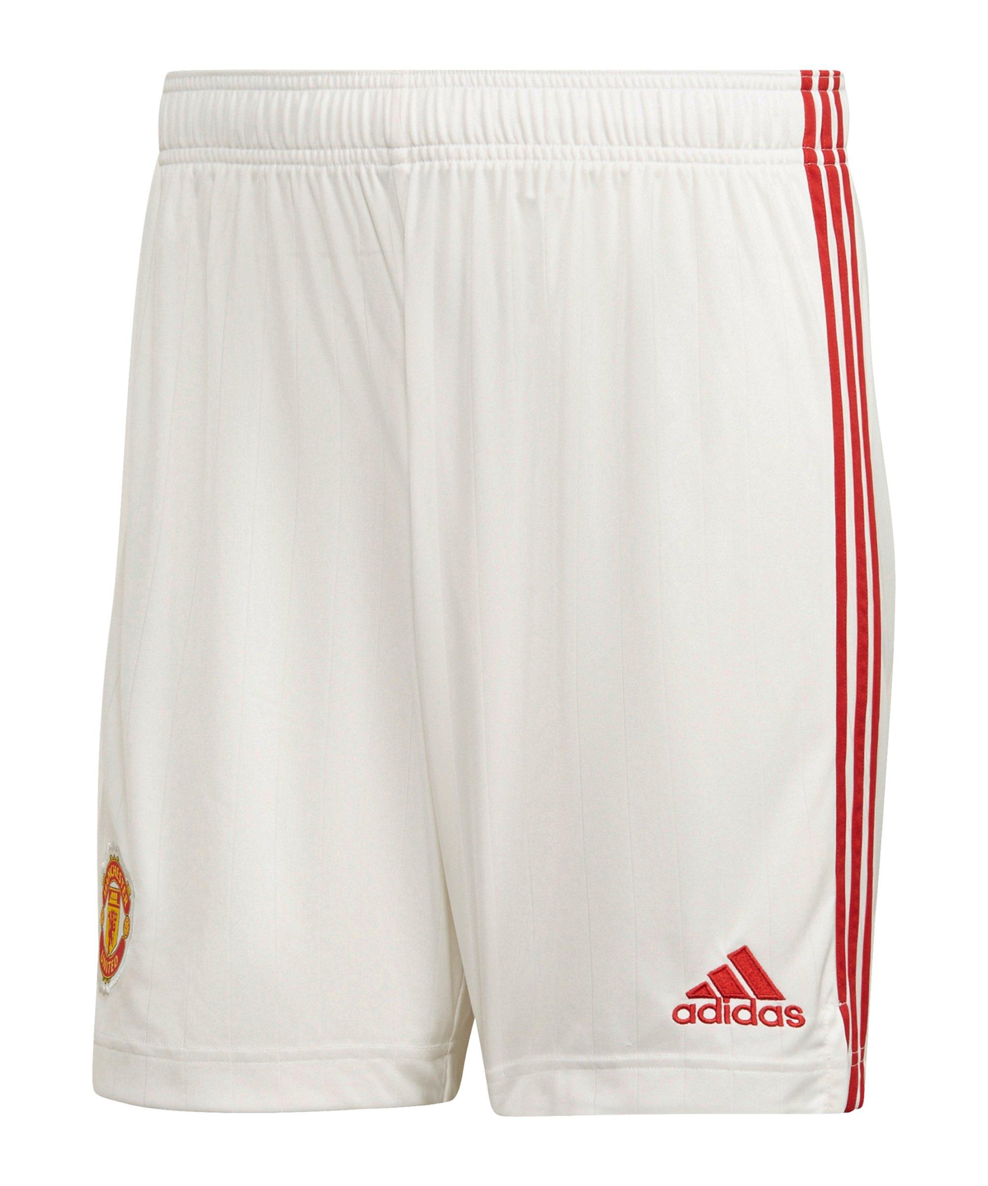adidas Manchester United Short Home 2021/2022 Weiss - weiss