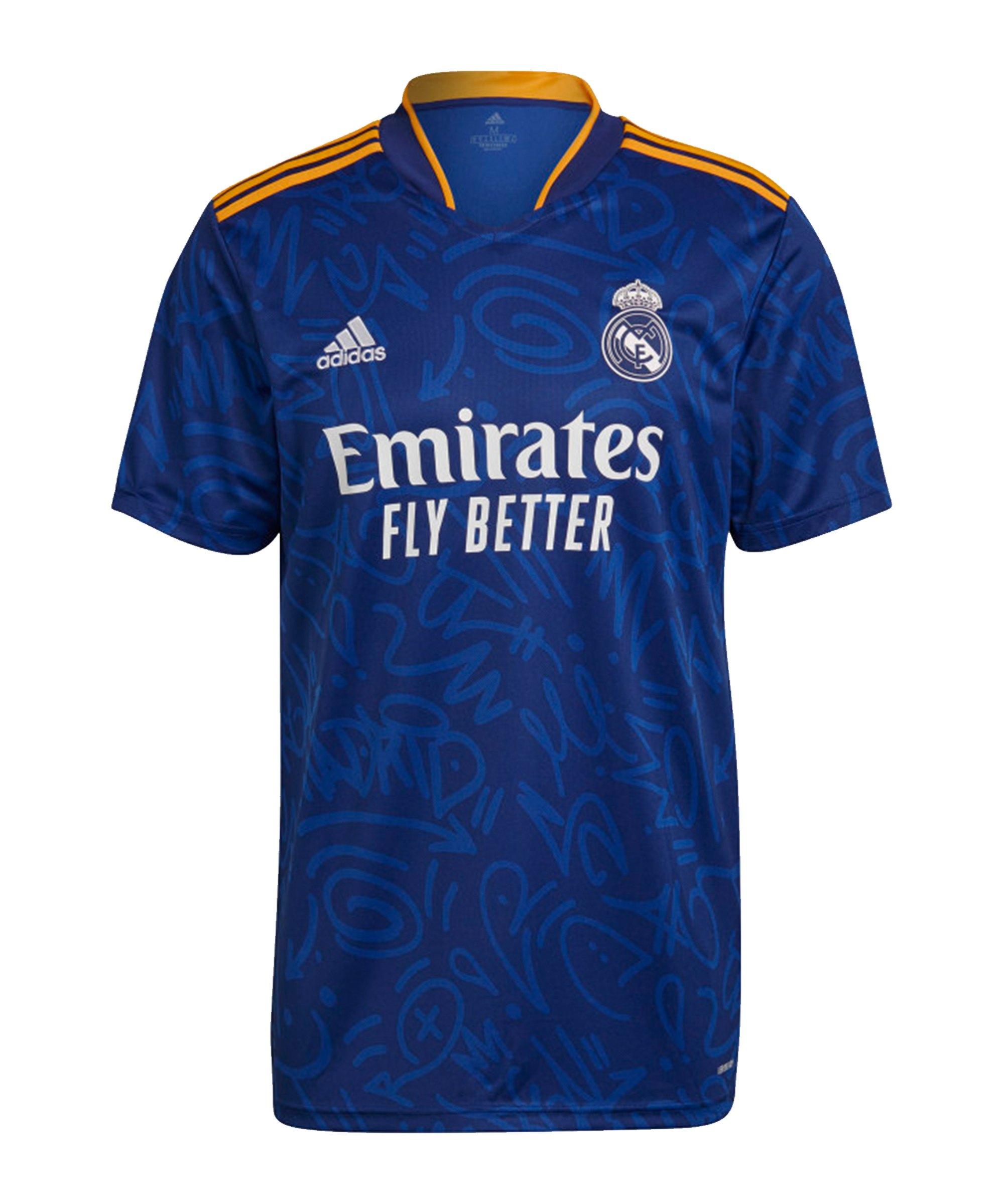 adidas Real Madrid Trikot Away 2021/2022 Blau - blau