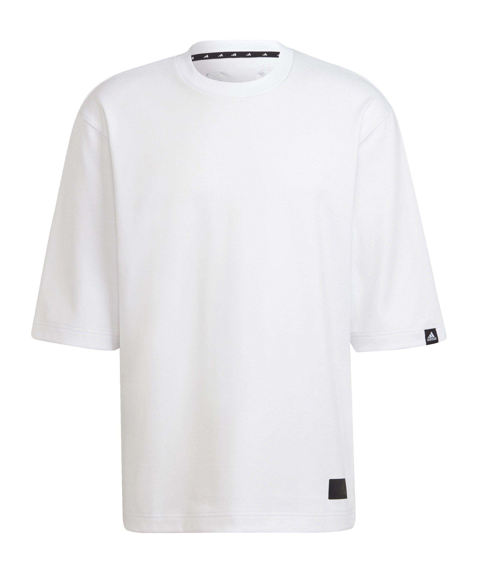 adidas Loose T-Shirt Weiss - weiss
