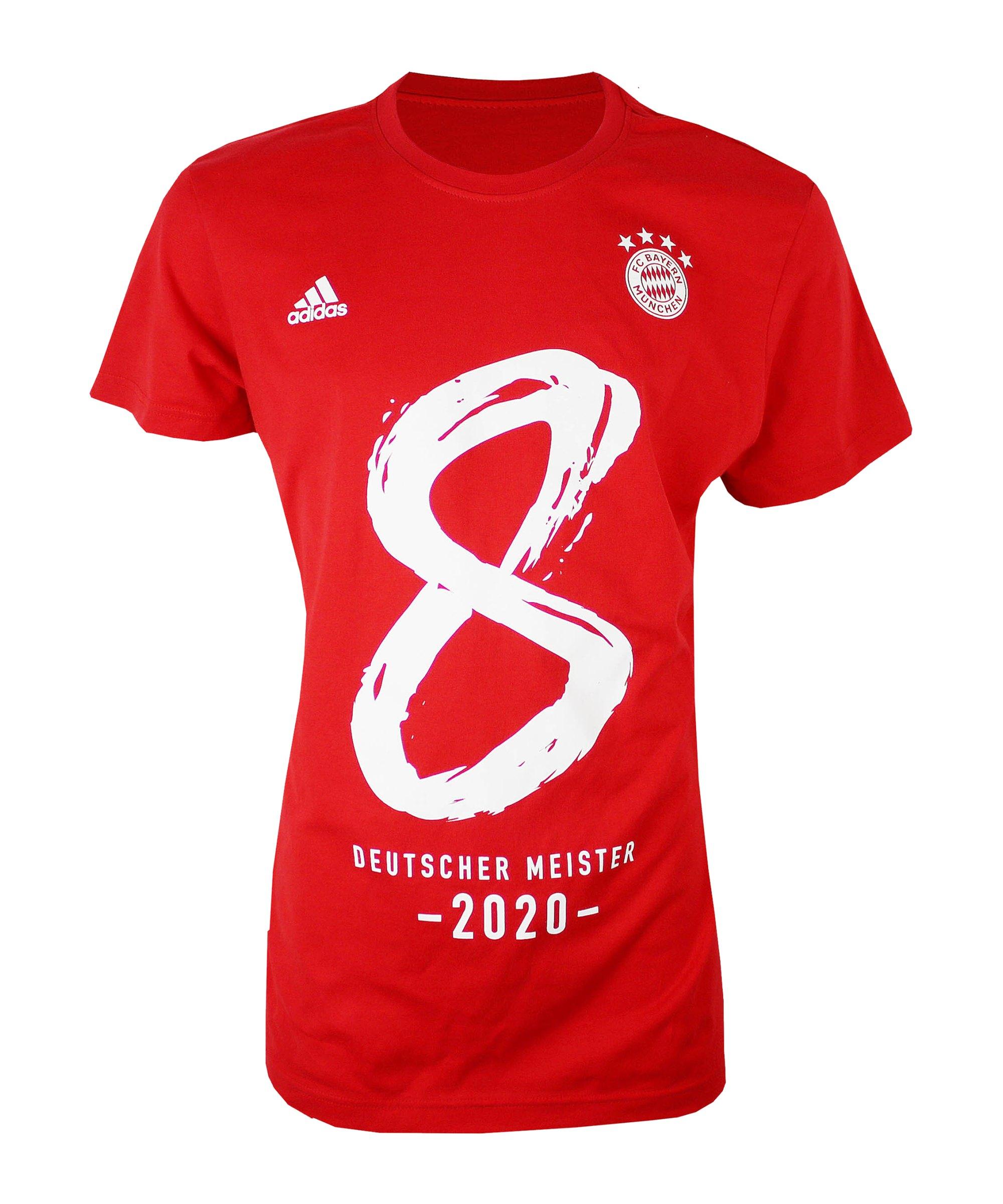 adidas FC Bayern München Meistershirt 2020 Rot - rot