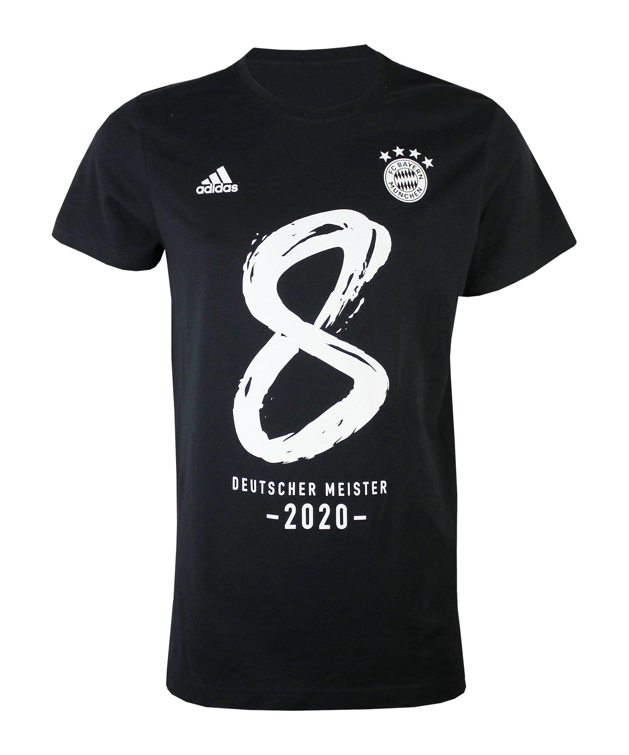 adidas FC Bayern München Meistershirt 2020 Schwarz - schwarz