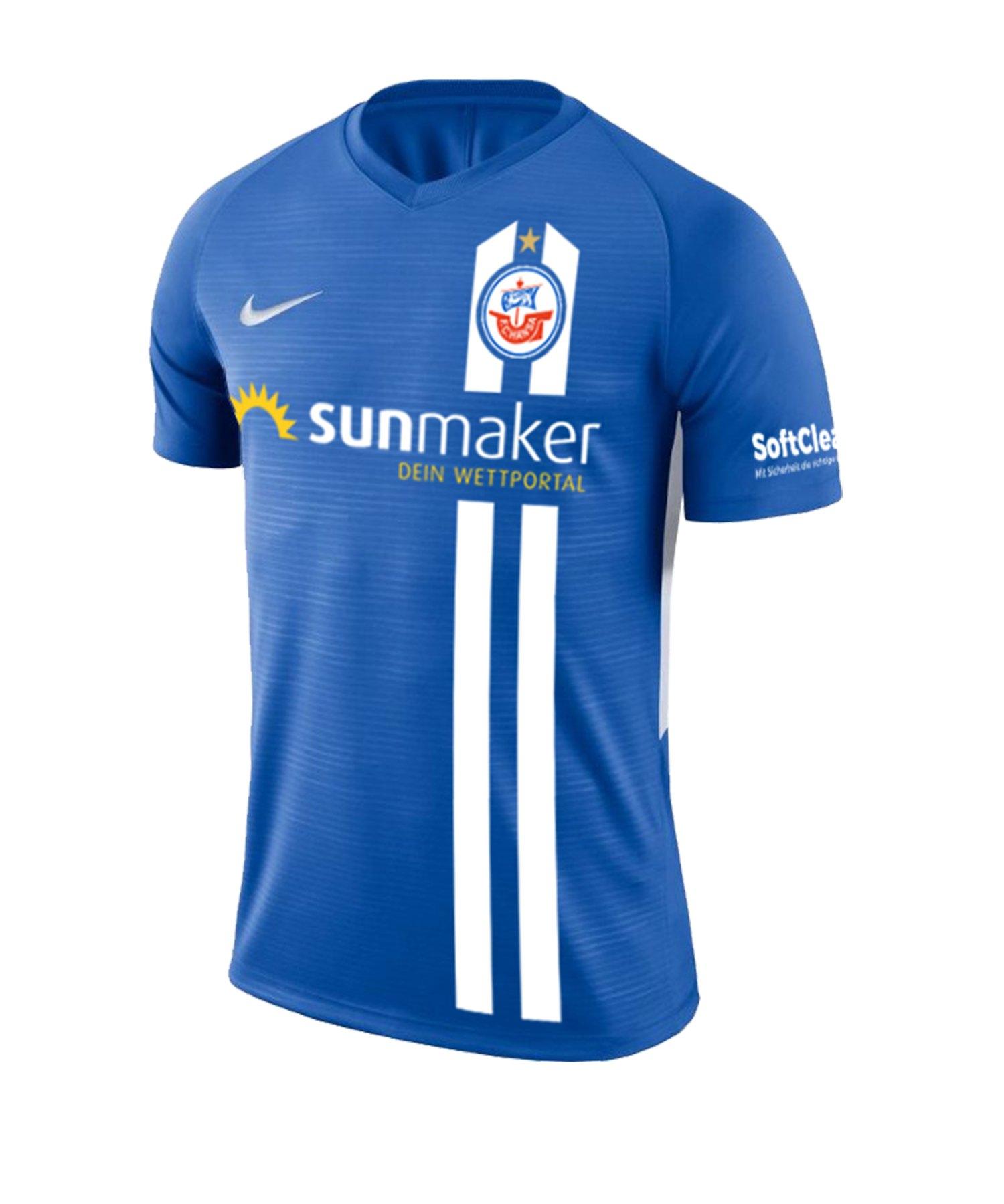 Nike Hansa Rostock Trikot Home 2019/2020 Blau F463 - blau