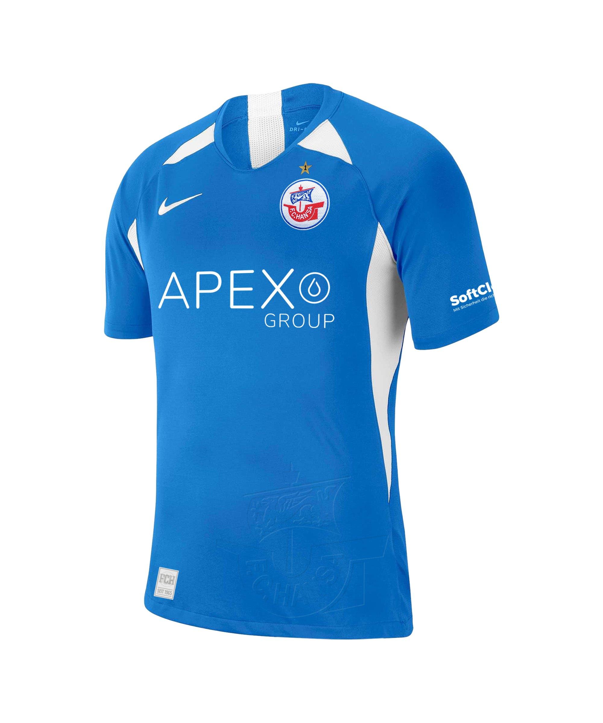 Nike Hansa Rostock Trikot Home 2021/2022 Blau F463 - blau