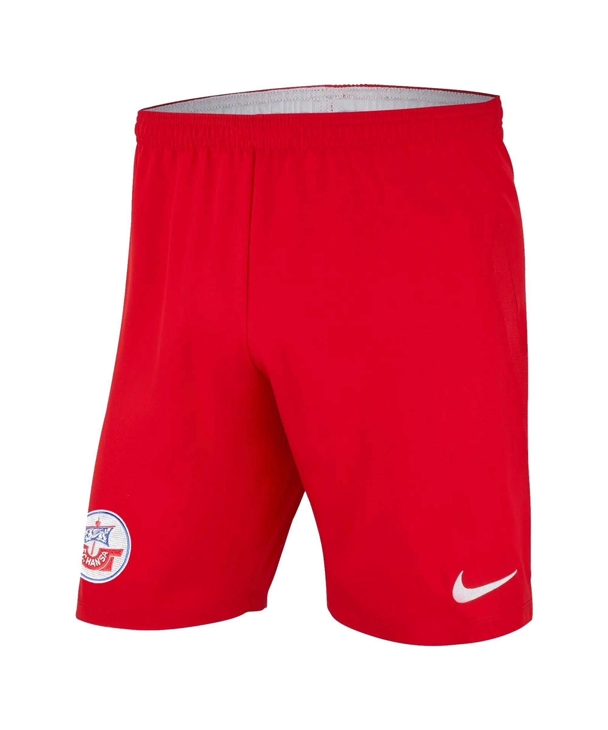Nike Hansa Rostock Short 3rd 2021/2022 Kids Rot F657 - rot