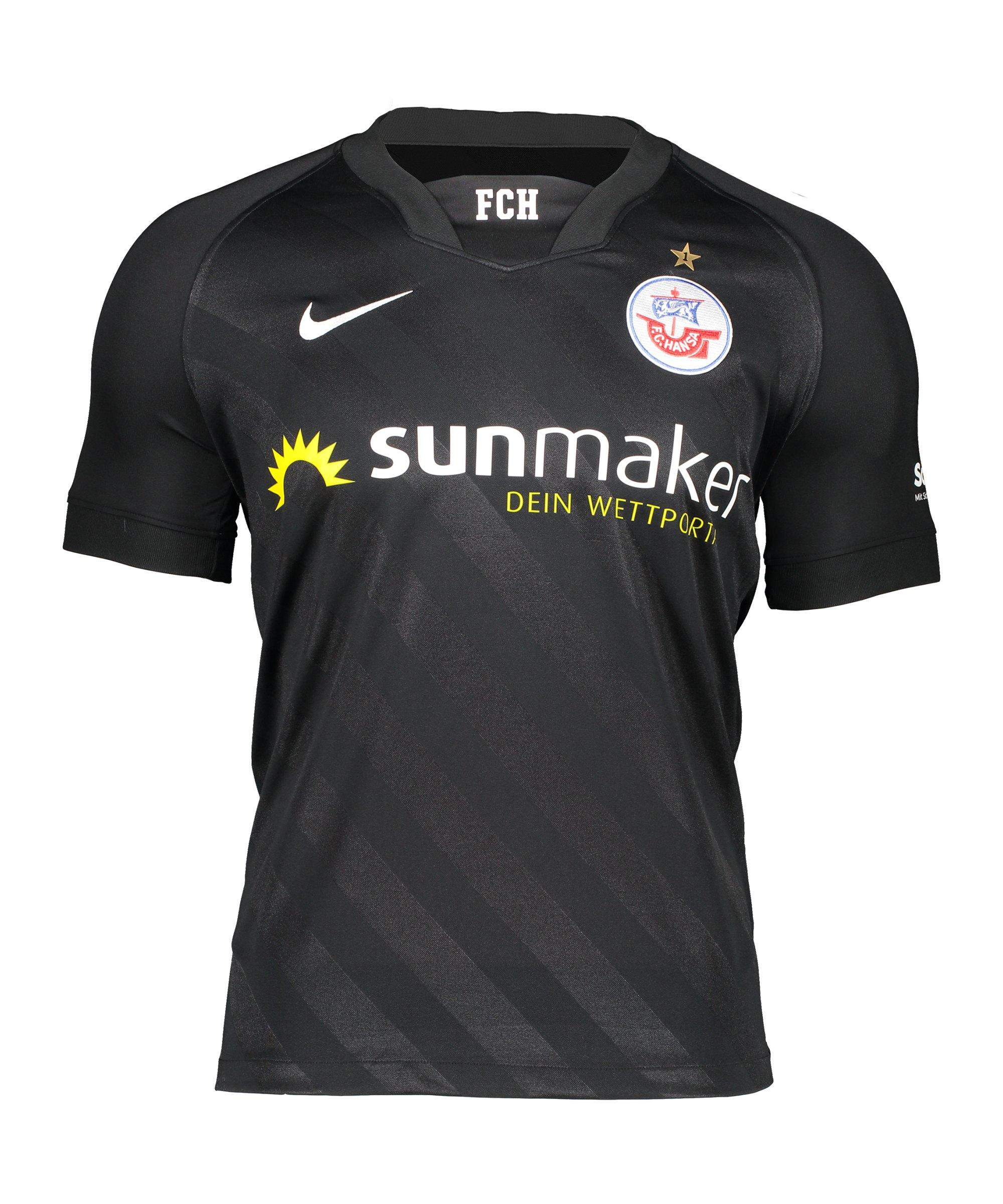 Nike Hansa Rostock Trikot Away 2020/2021 Kids Schwarz F010 - schwarz