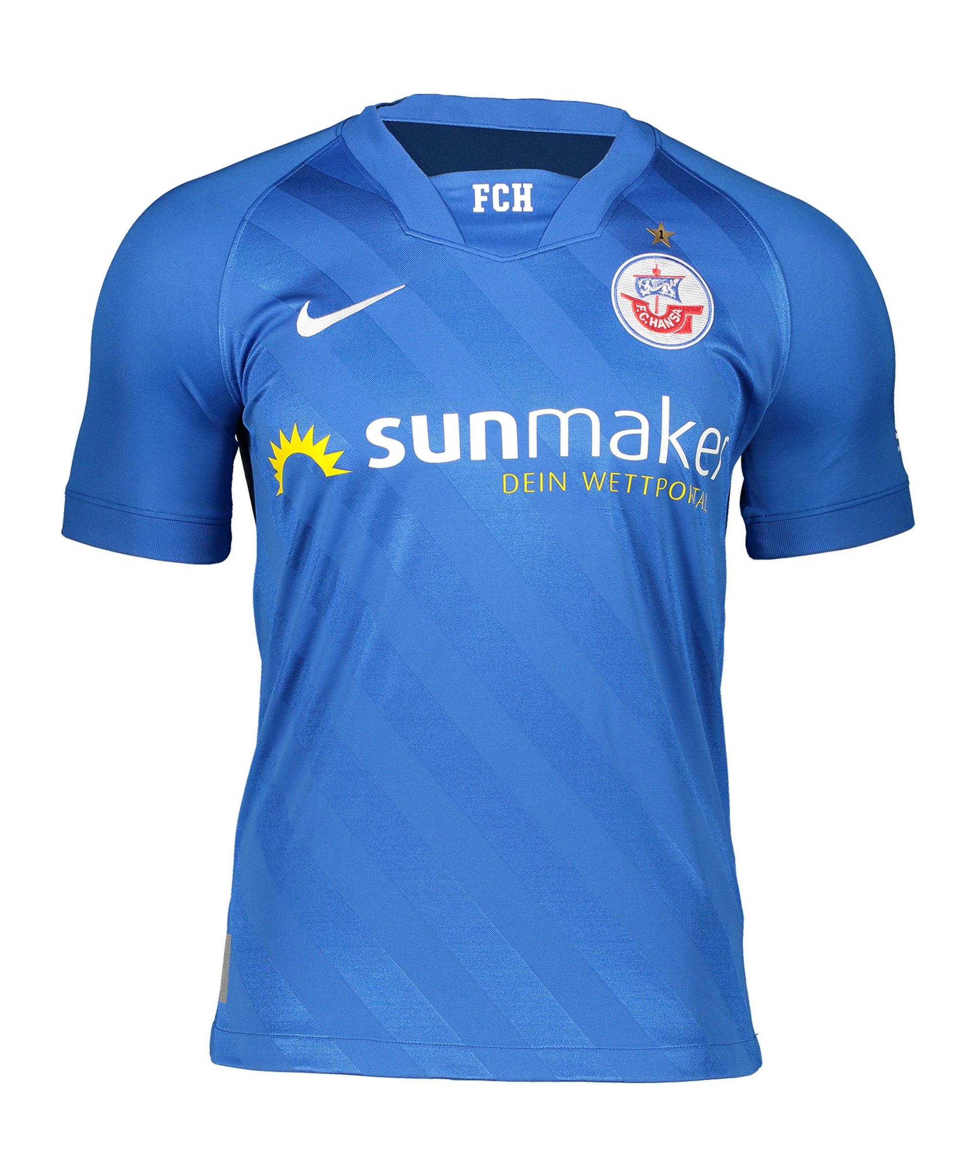 Nike Hansa Rostock Trikot Home 2020/2021 Kids Blau F463 - blau