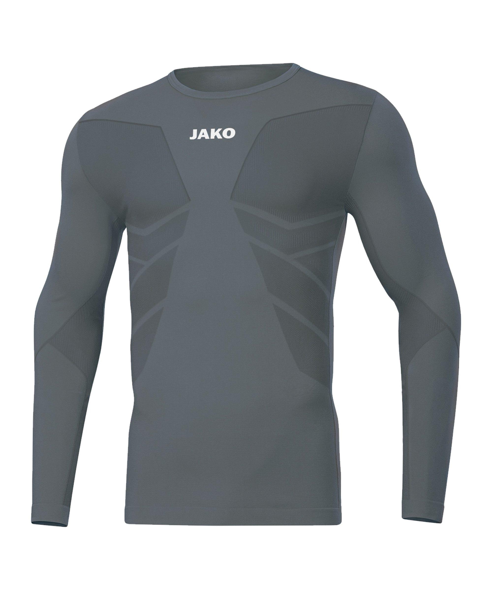 JAKO Comfort 2.0 langarm Grau F40 - grau