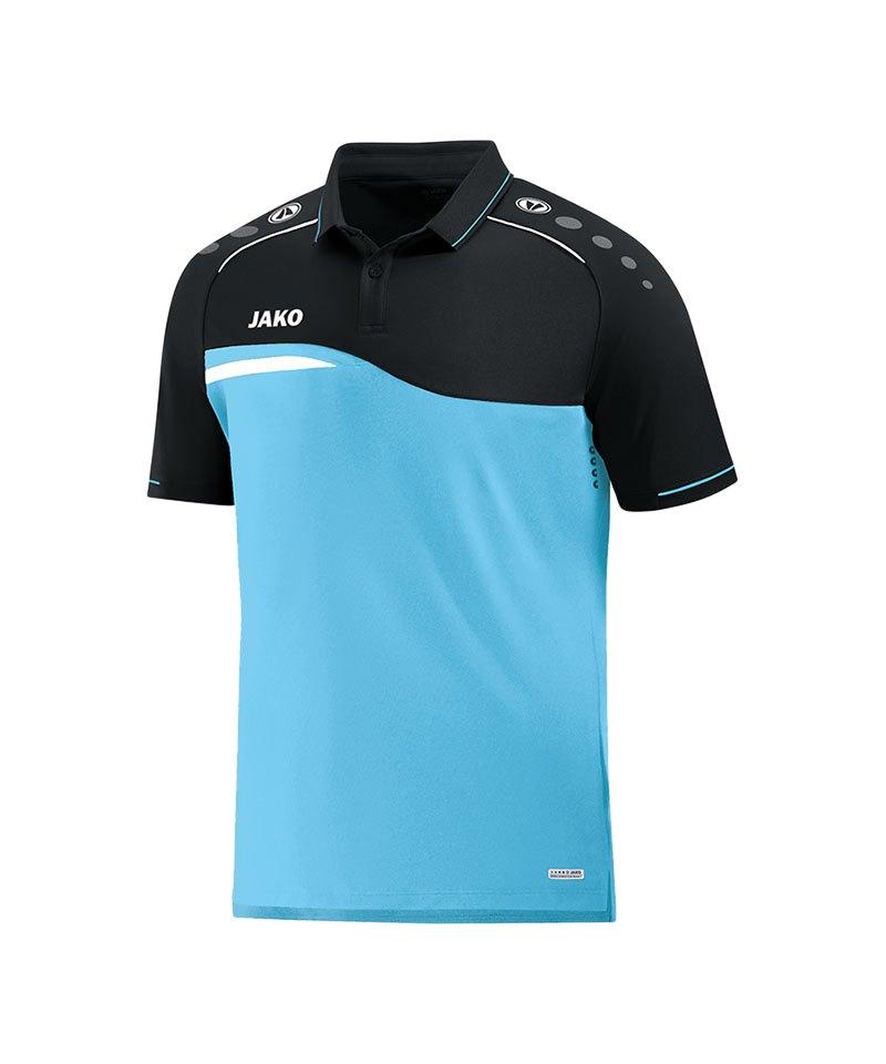 Jako Competition 2.0 Poloshirt Blau Schwarz F45 - blau