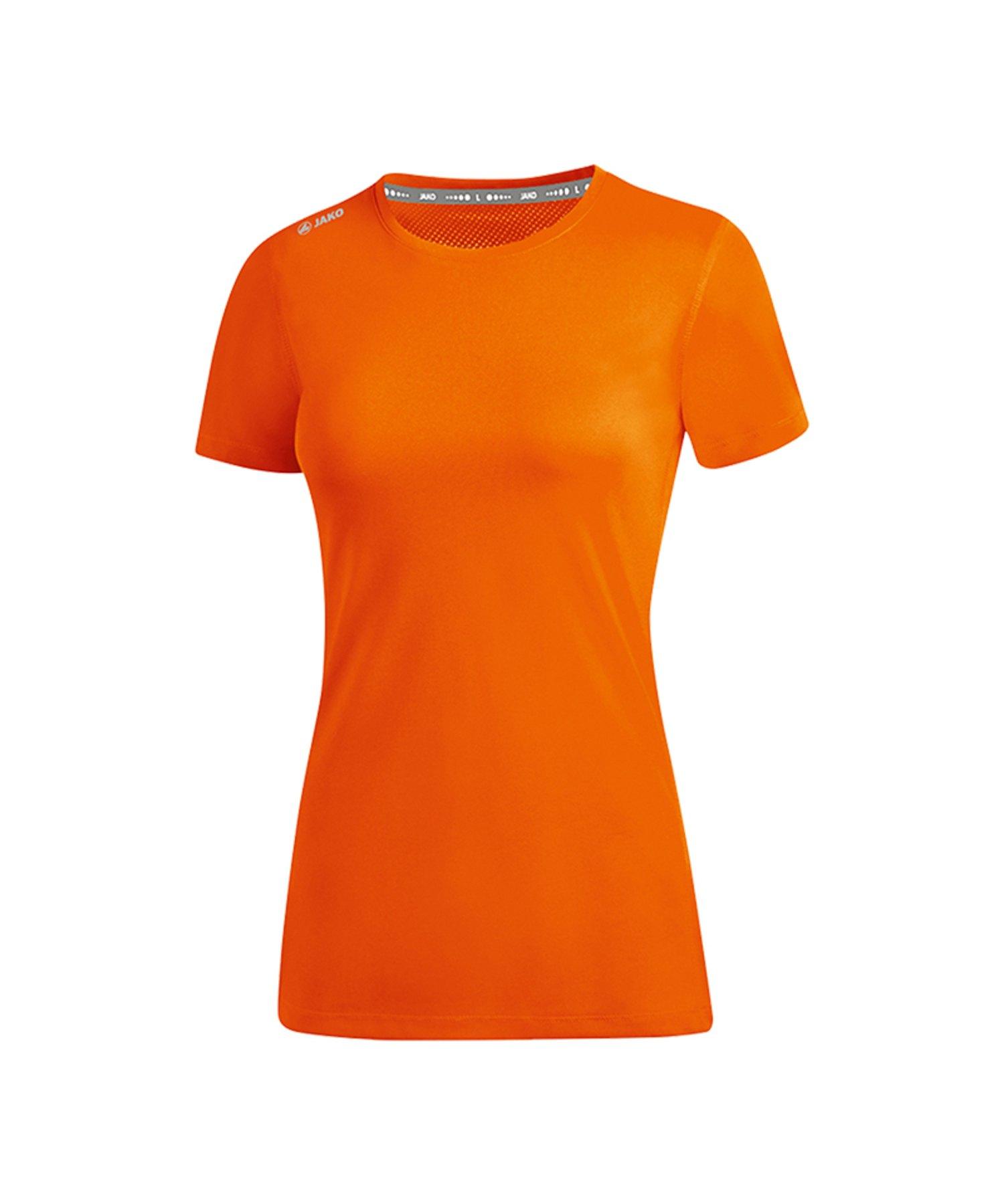 Jako Run 2.0 T-Shirt Running Damen Orange F19 - Orange