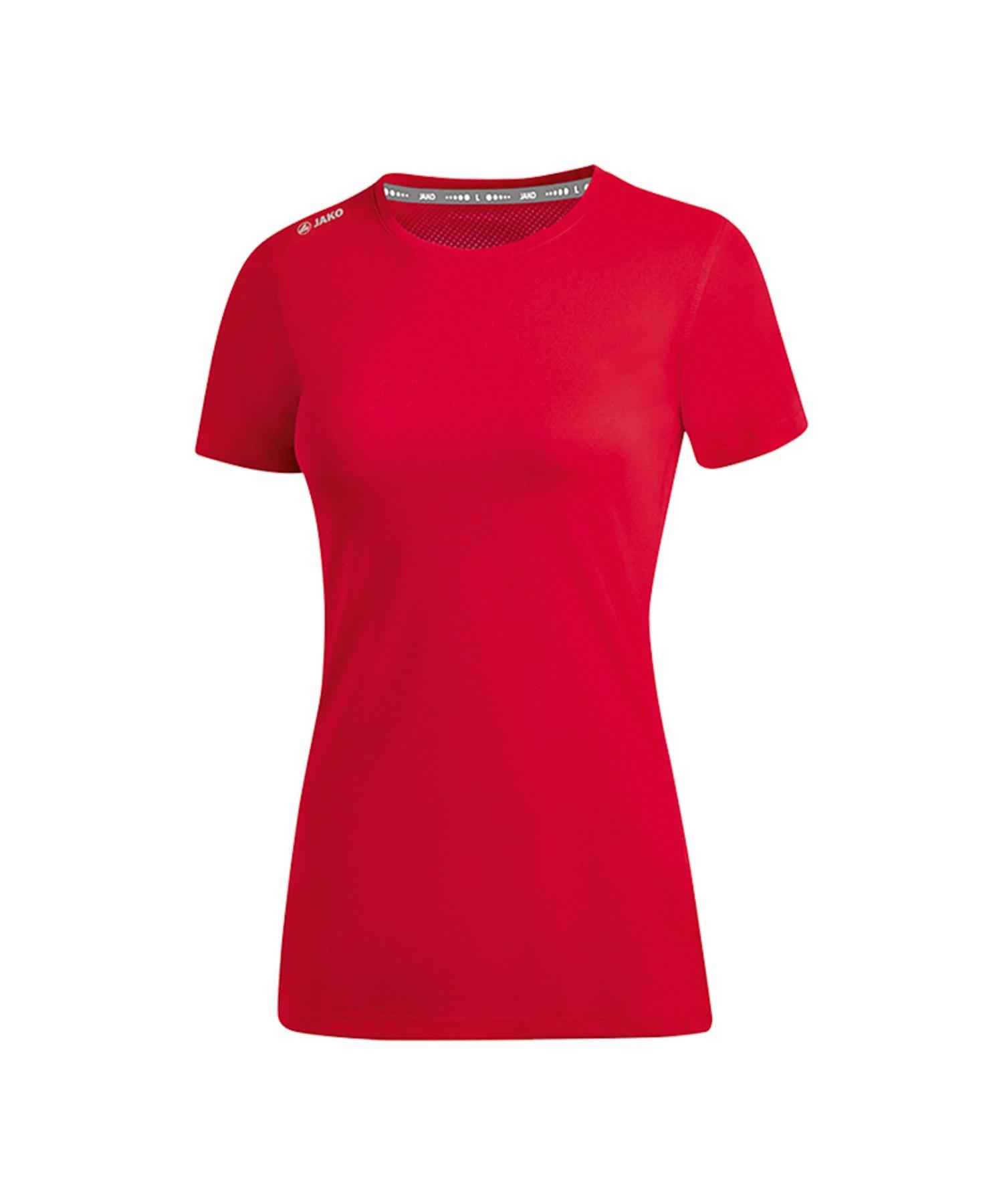 Jako Run 2.0 T-Shirt Running Damen Rot F01 - Rot