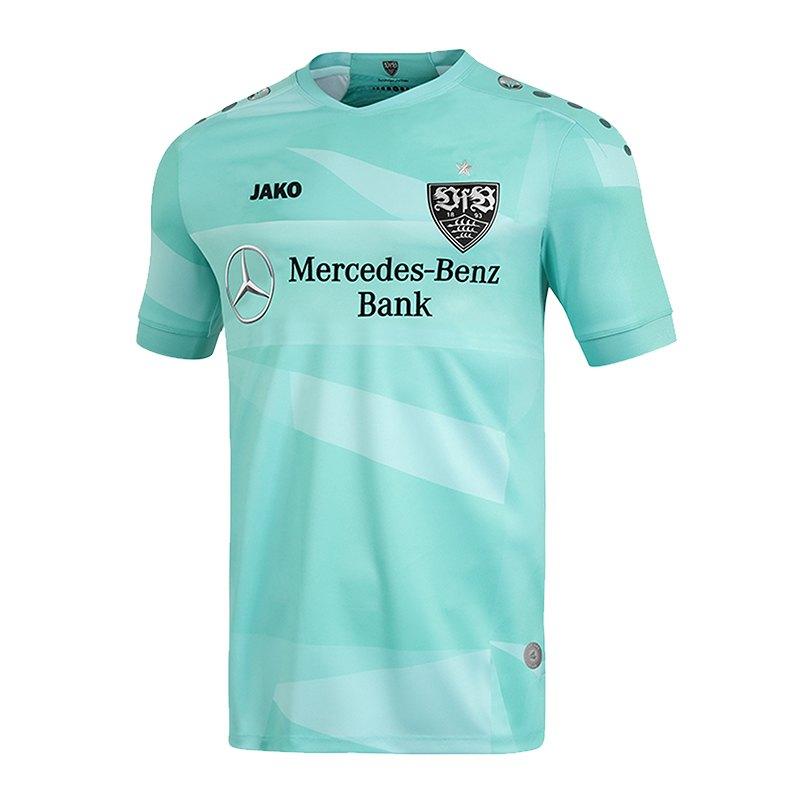 Jako VfB Stuttgart TW-Trikot Away 2019/2020 Kids Mint Schwarz F24 - gruen