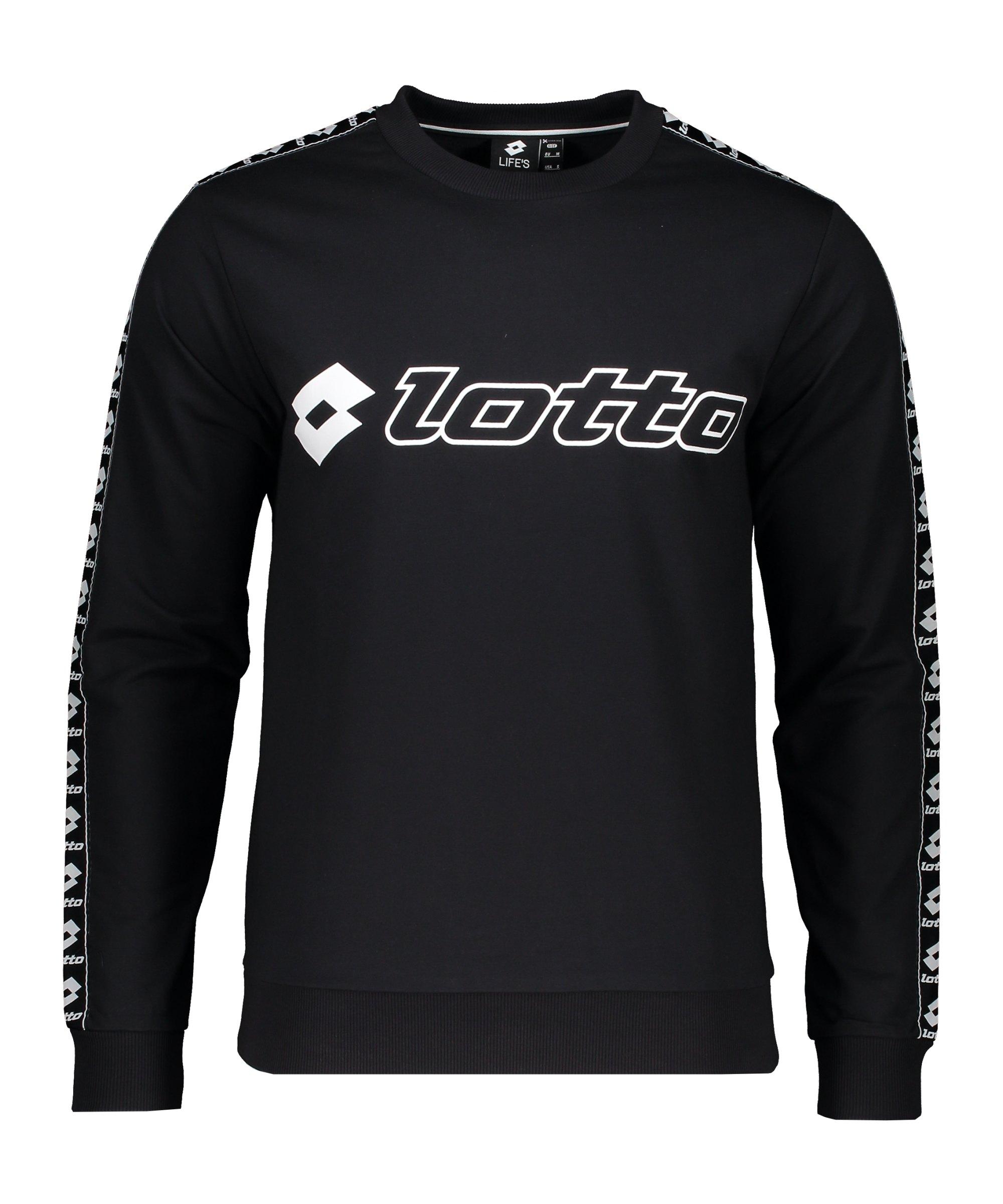 Lotto Athletica Sweatshirt Schwarz F000 - schwarz