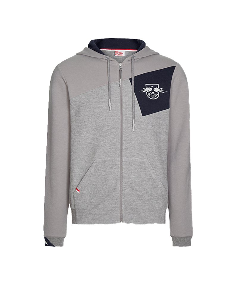 RB Leipzig Ascent Zip Hoody Grau - grau