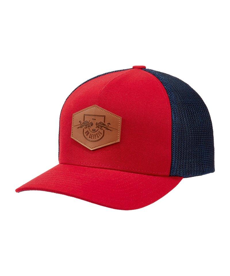 RB Leipzig Comb Patch Cap Kappe Rot Blau - rot