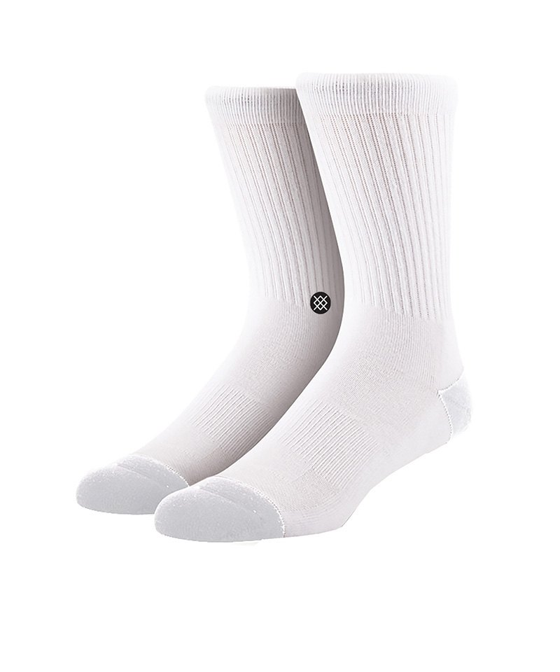 Stance Socks Uncommon Solids Icon Weiss - weiss