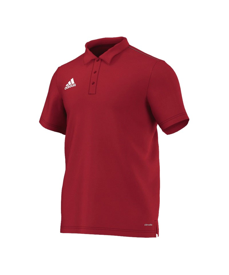 adidas ClimaLite Poloshirt Core 15 Rot Weiss - rot