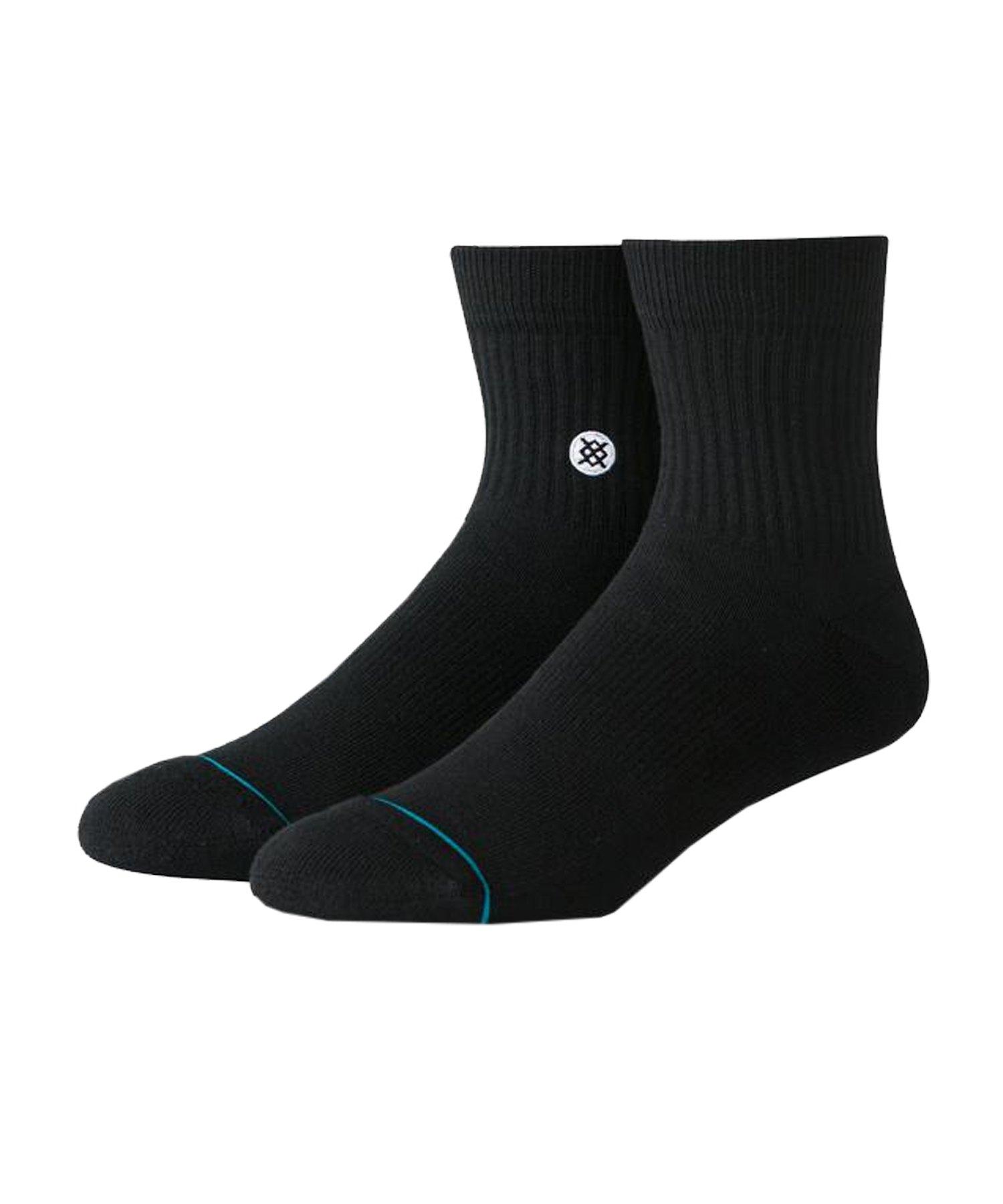 Stance Icon 3er Pack Socken Schwarz Weiss - schwarz