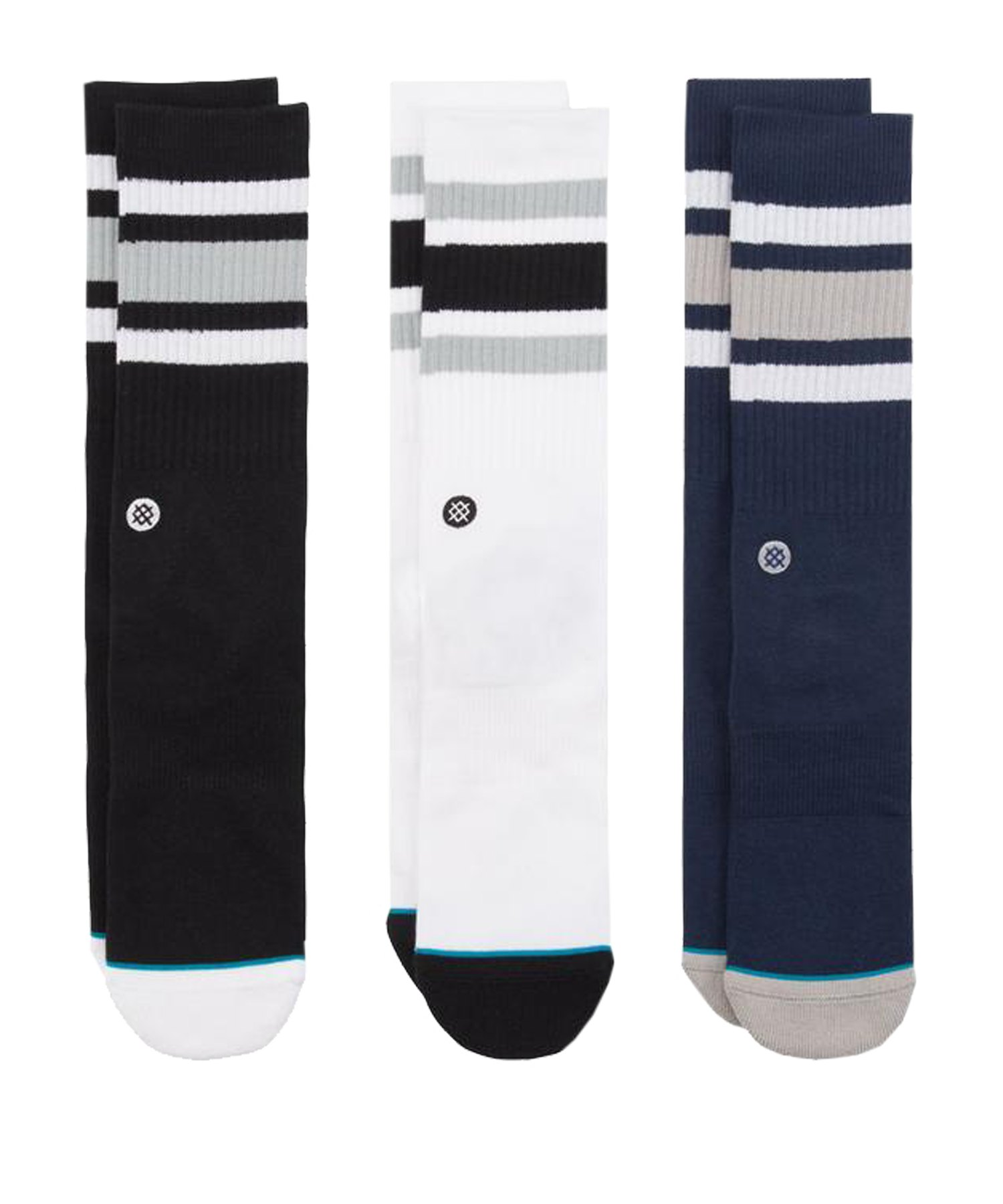 Stance Boyd 3er Pack Socken Multicolor - schwarz