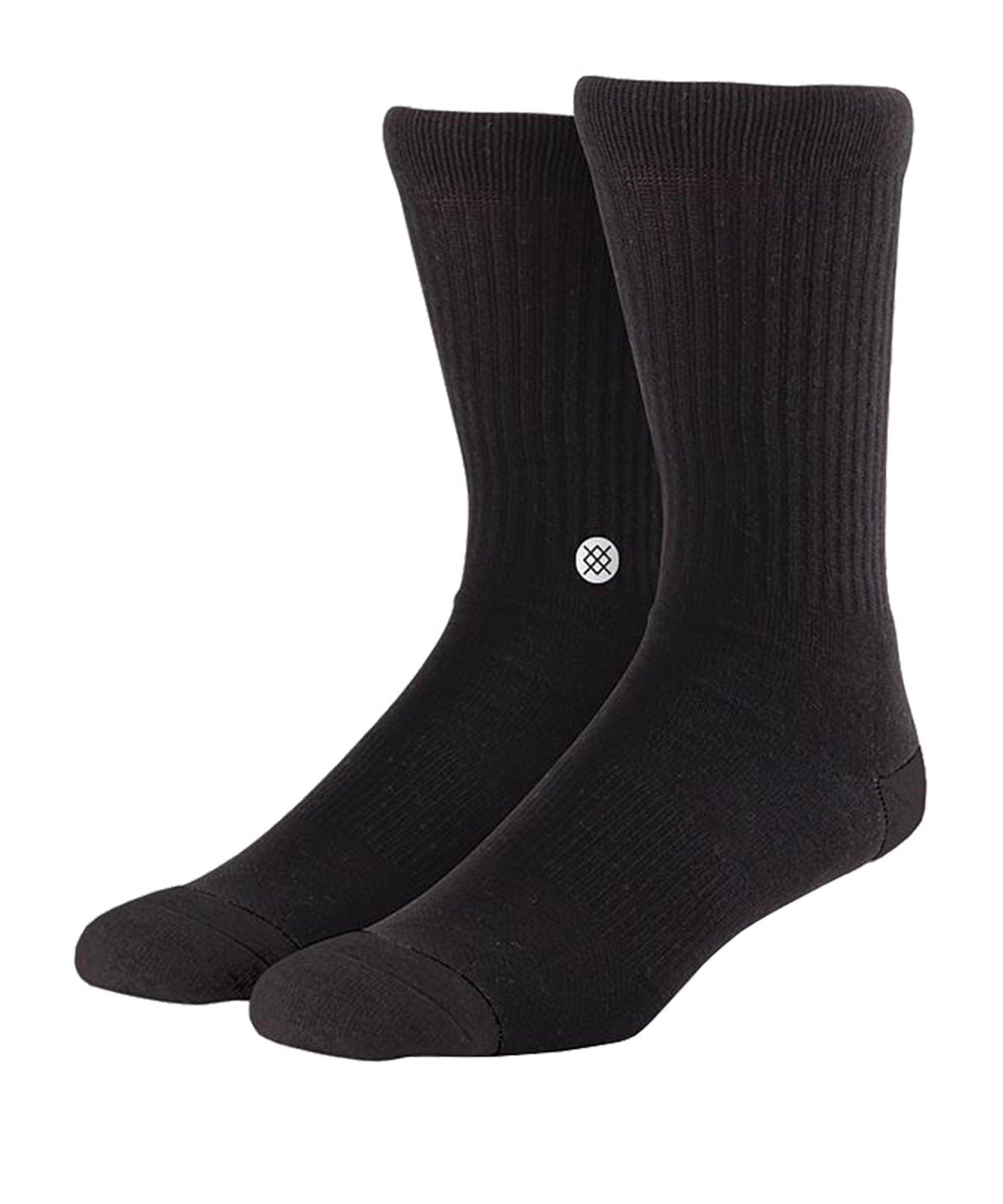 Stance Uncommon Solids Icon Socks 3er Pack Schwarz - schwarz